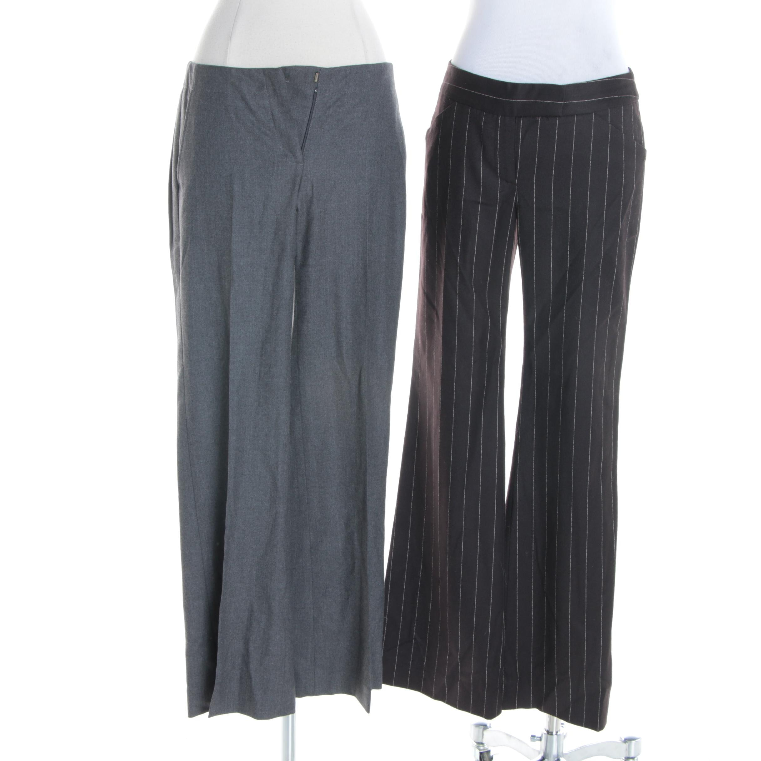 Women's Theory Wool Blend Trousers