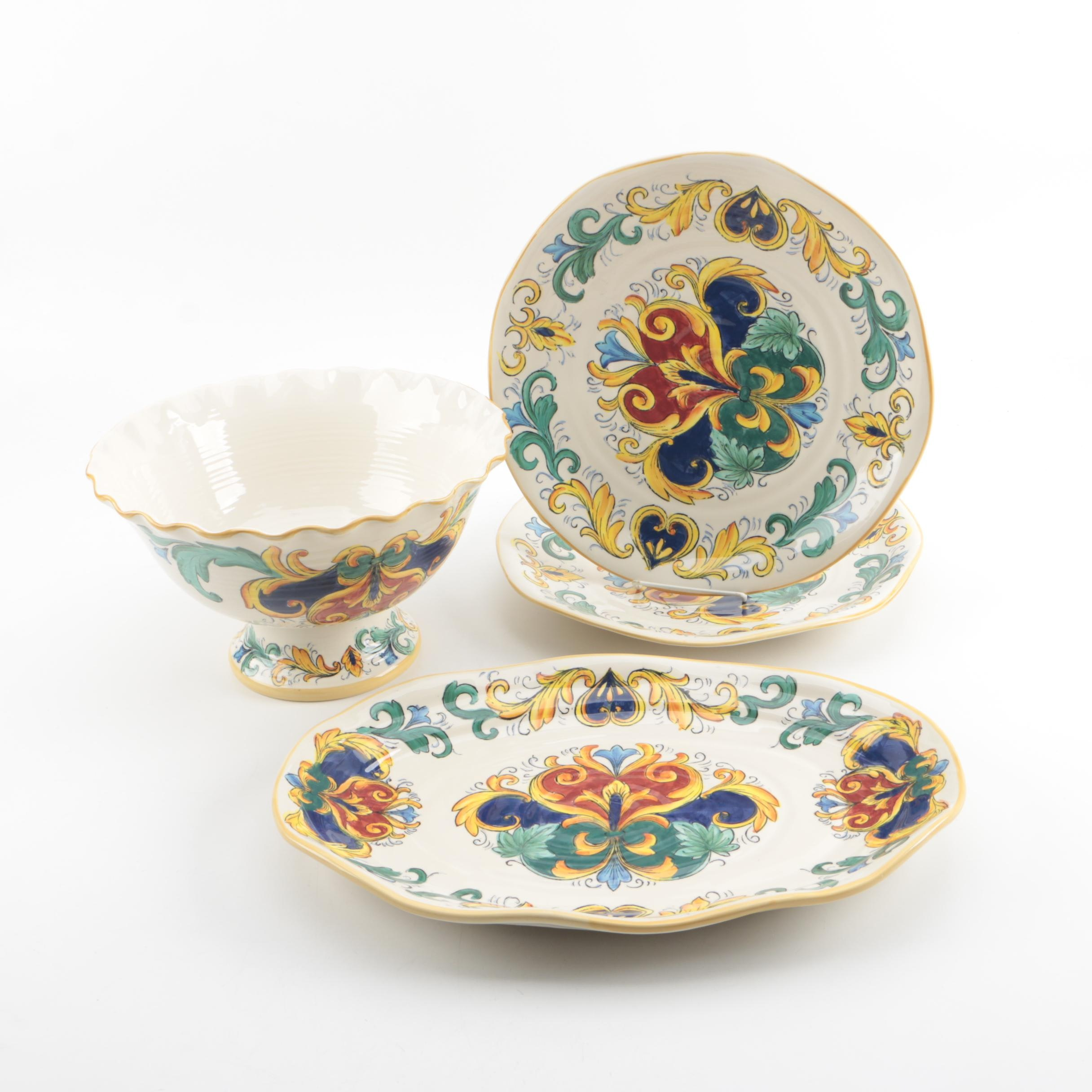 Royal Tuscan Serveware with Maiolica Style Decoration