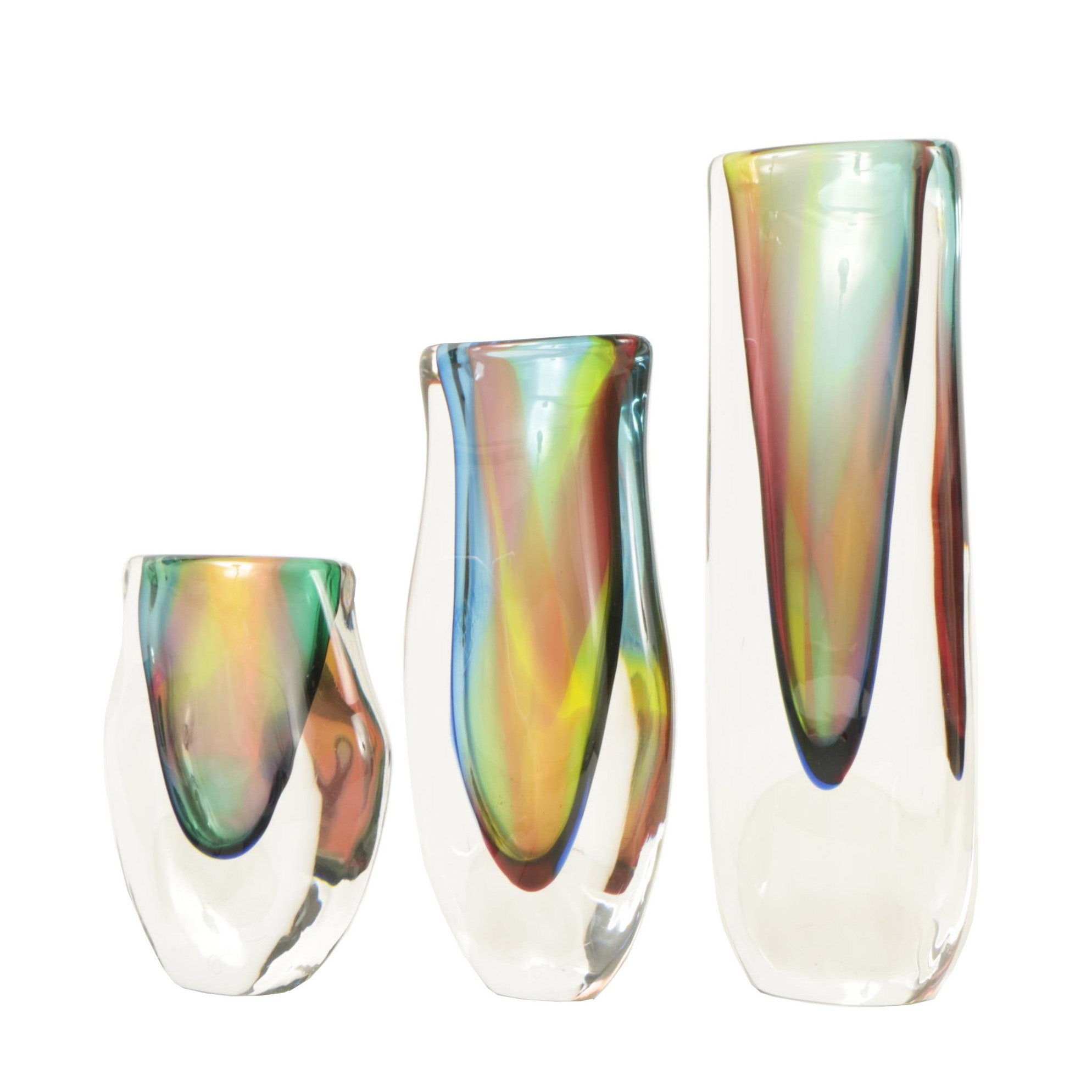 Jesse Reece 20th Century Blown Art Glass Vases