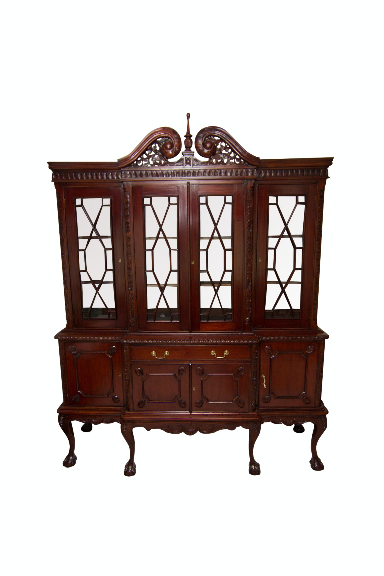 Cherry China Breakfront Cabinet