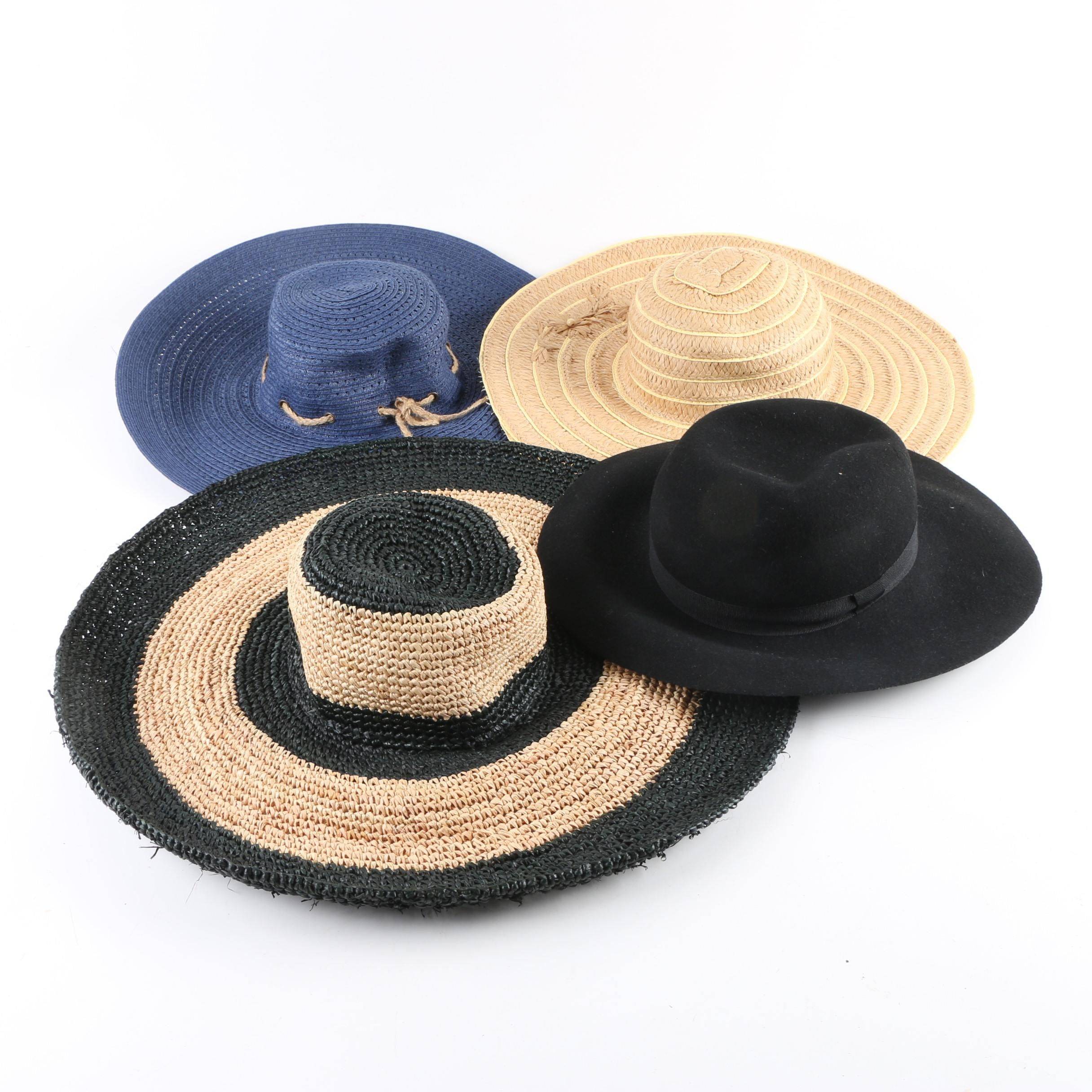 Women's Wide-Brimmed Hats Including Lauren Ralph Lauren