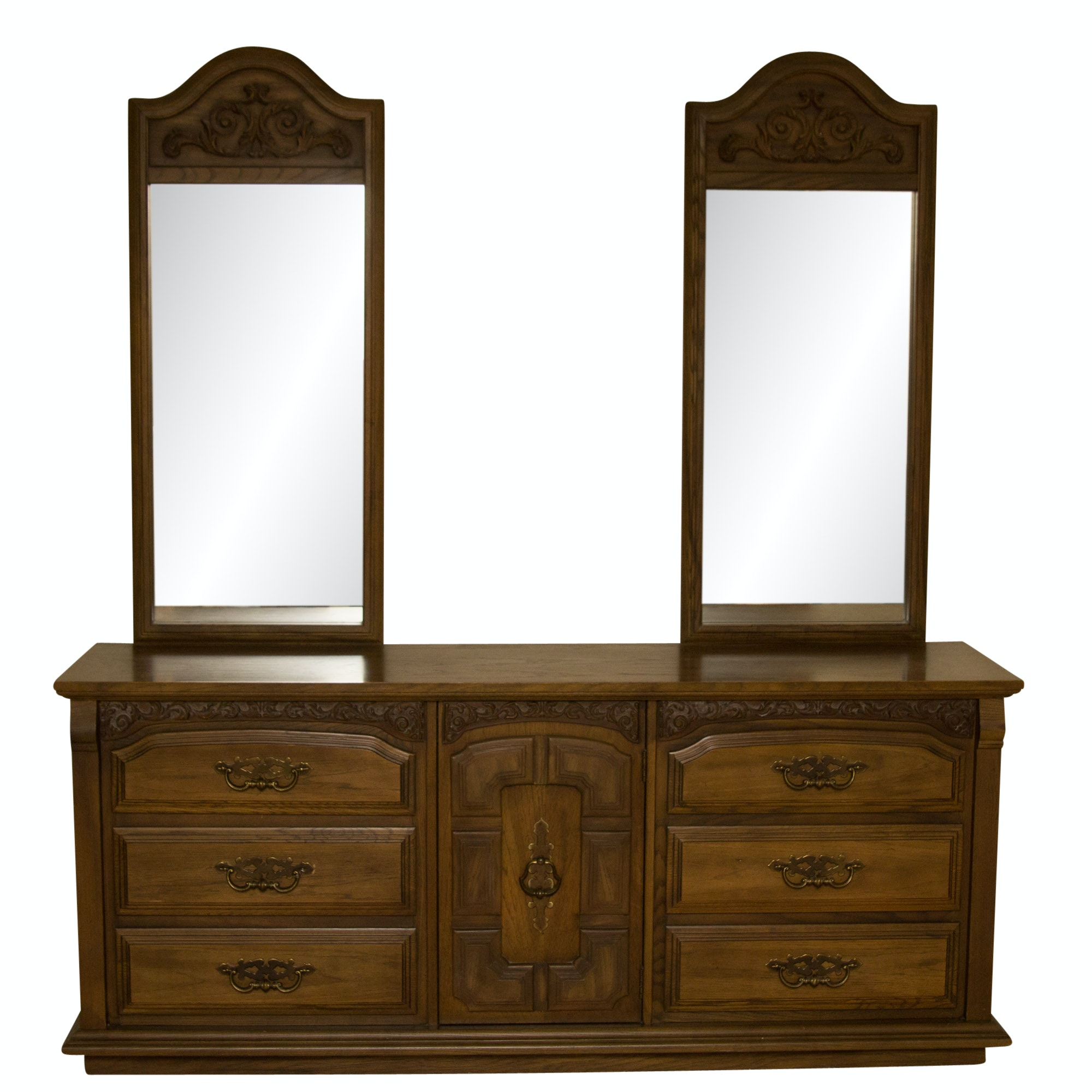 Stanley Furniture Dresser with Mirrors