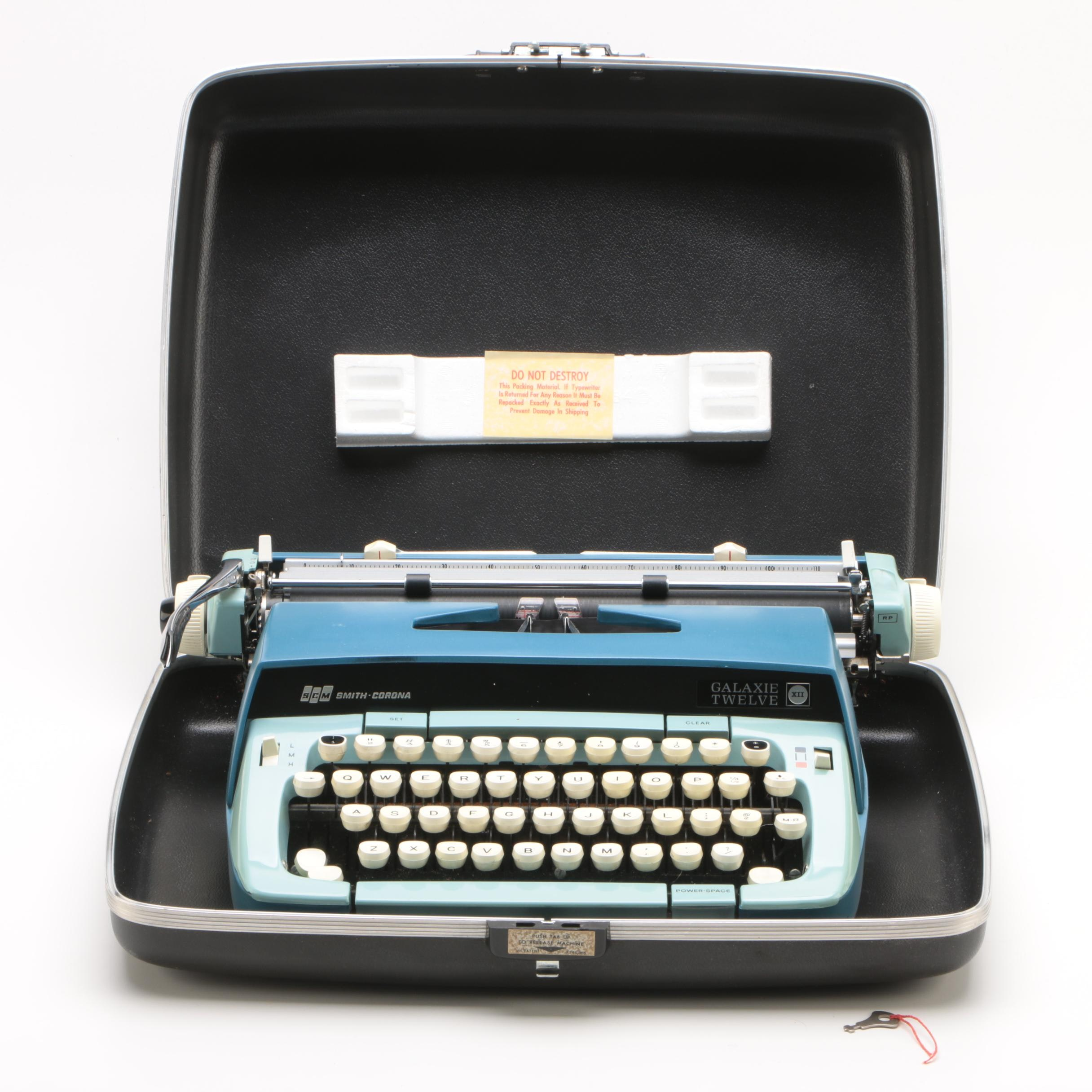 "Smith Corona ""Galaxie Twelve"" Typewriter And Case"