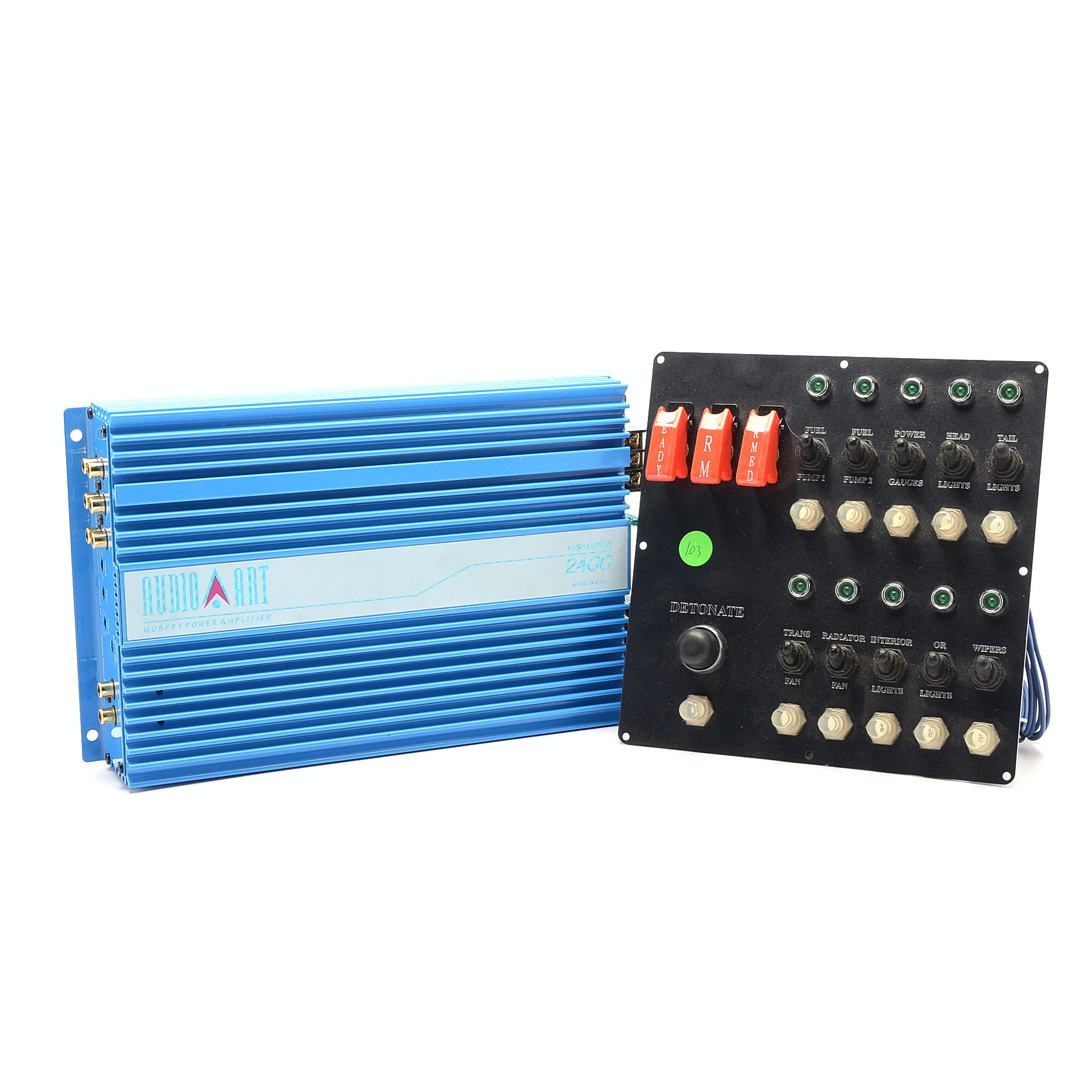 Audio Art Mosfet Car Amplifier and Control Panel