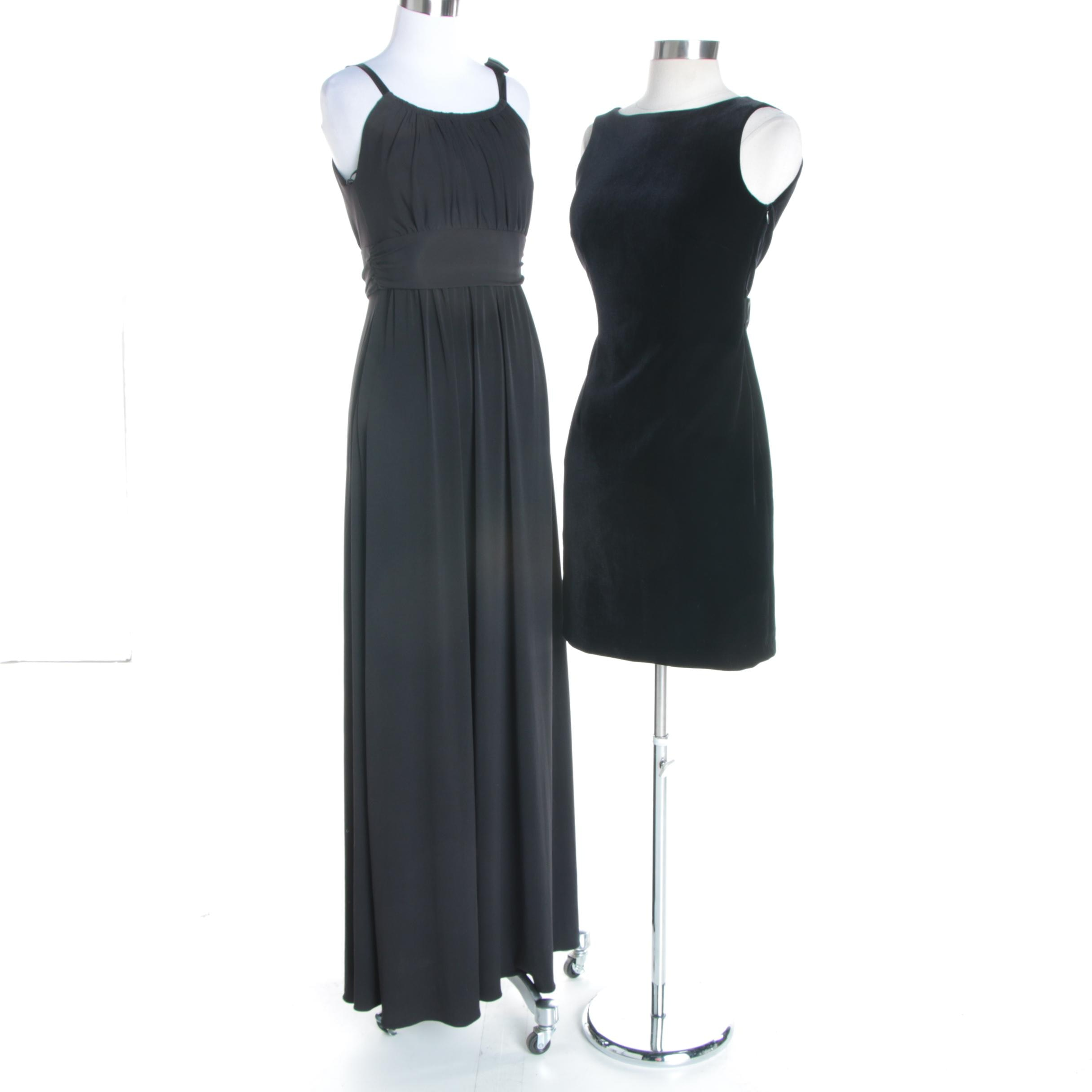 Women's Sleeveless Black Evening Dresses Featuring Laundry by Shelli Segal