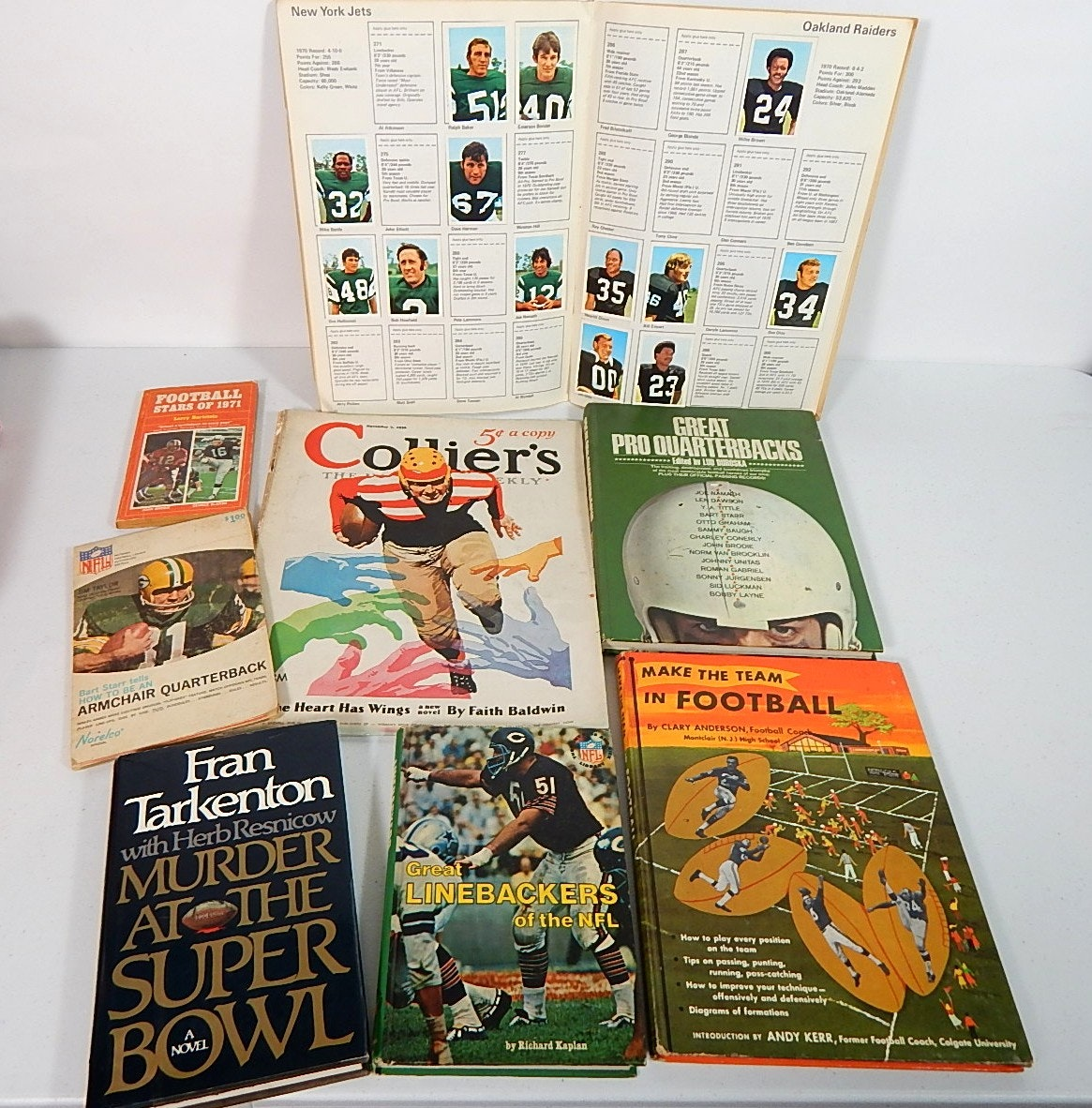 Vintage Football Magazines and Books with 1936 Collier and More