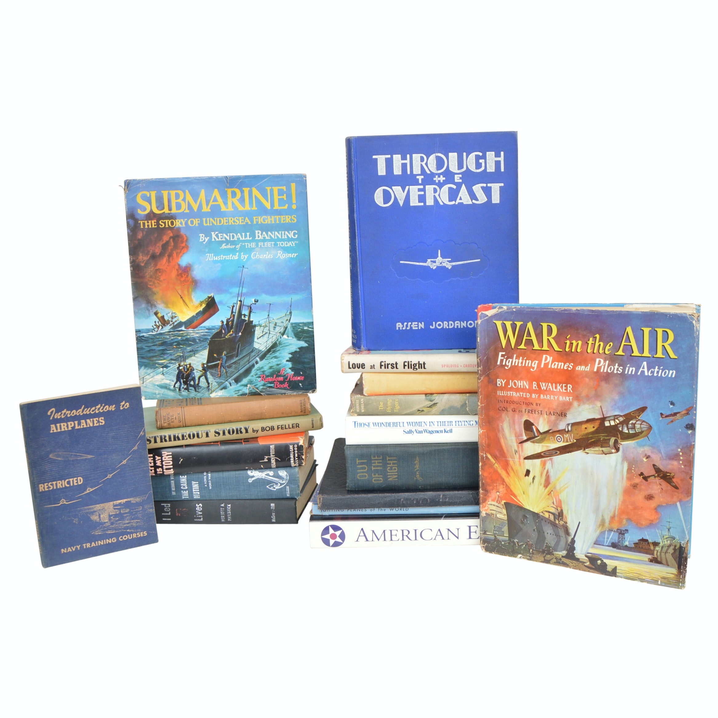 Vintage WWII Navy and Aviation Books with First Editions