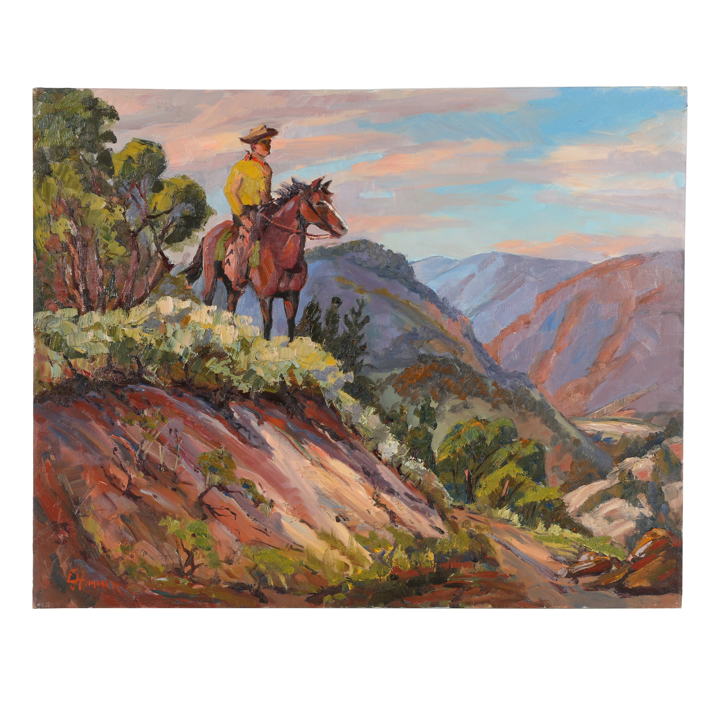 Judge Edward J. Hummer Oil Painting