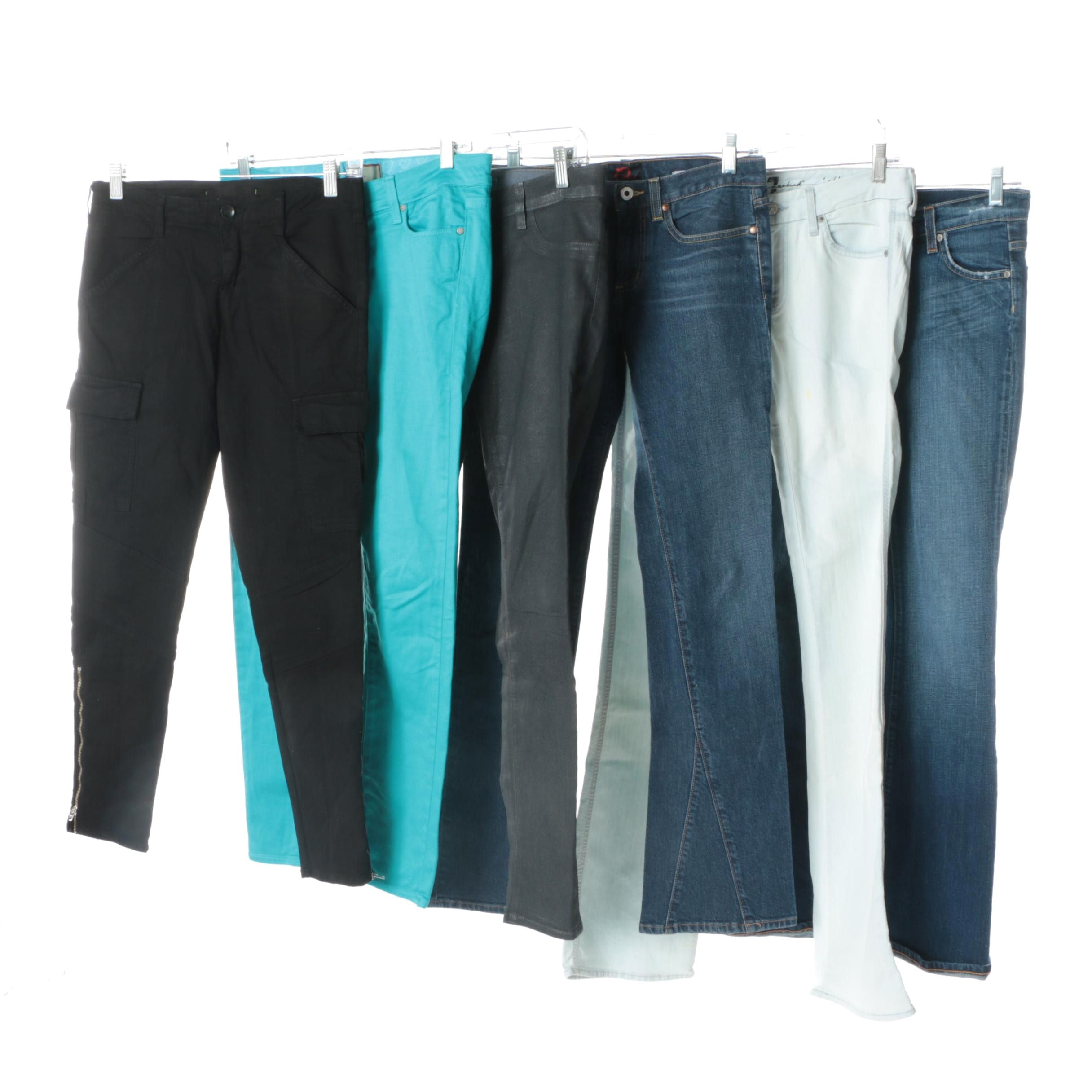 Women's Jeans and Pants Including J Brand and 7 For All Mankind