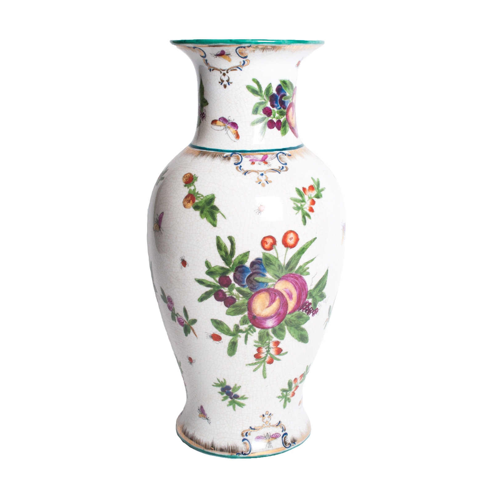 "United Wilson 1897 Chinese Export Porcelain ""Fruit"" Vase"