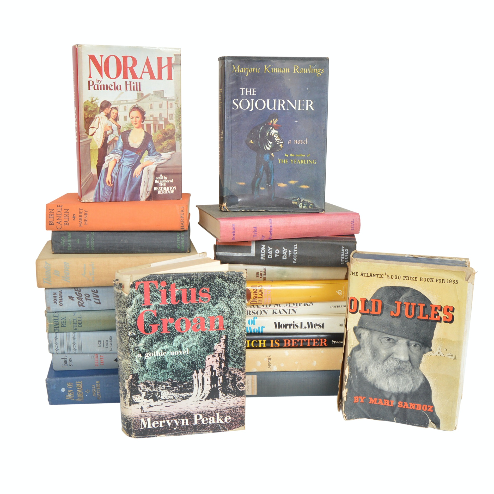 Vintage Novels and Adventure Books with First Editions