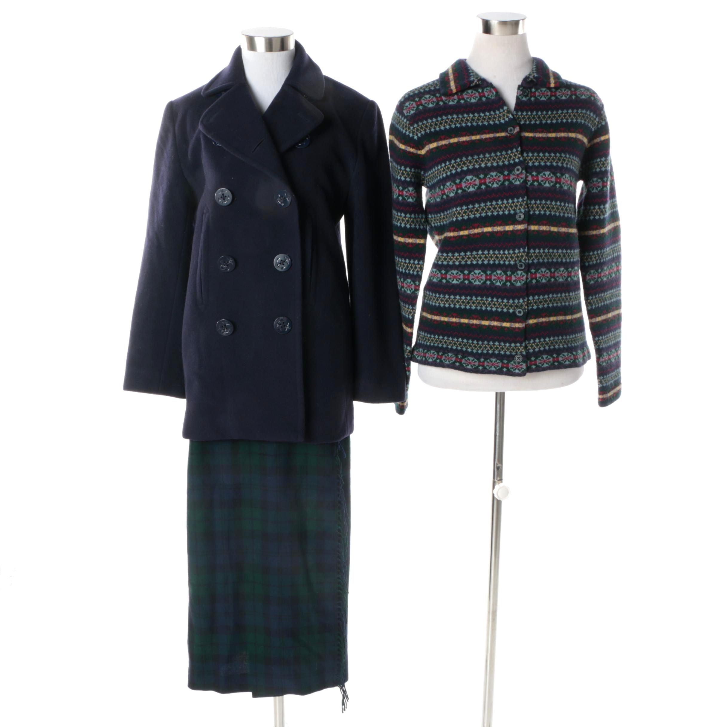 Women's Lauren Ralph Lauren Petite Coat, Sweater and Skirt