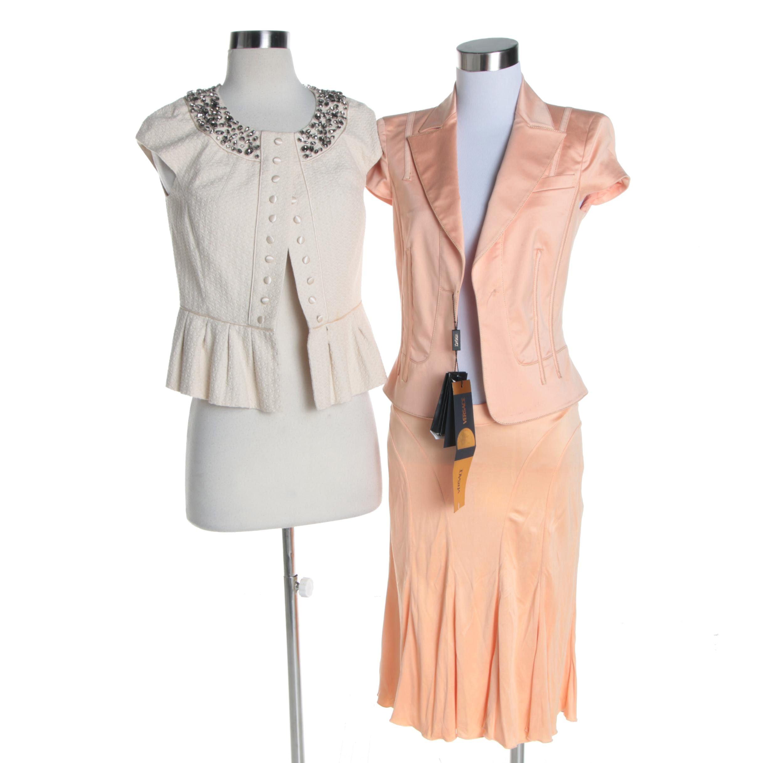 Women's Versace Skirt Suit and Robert Rodriguez Short Sleeve Jacket