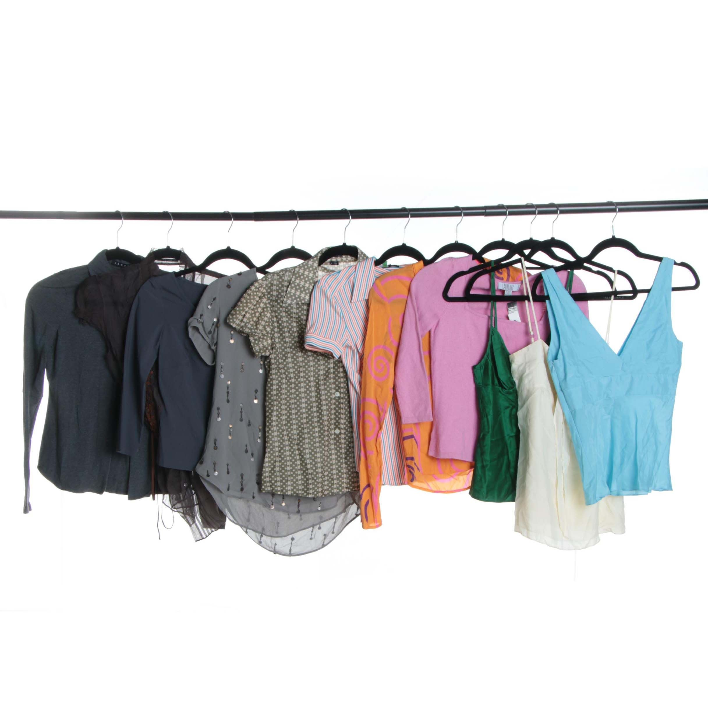 Women's Contemporary Tops Including Theory and Elie Tahari