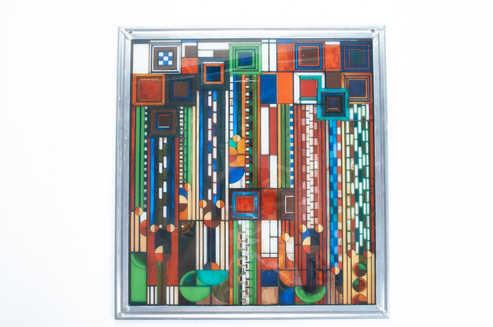 "Frank Lloyd Wright Collection ""Saguaro"" Series Glass Panel"