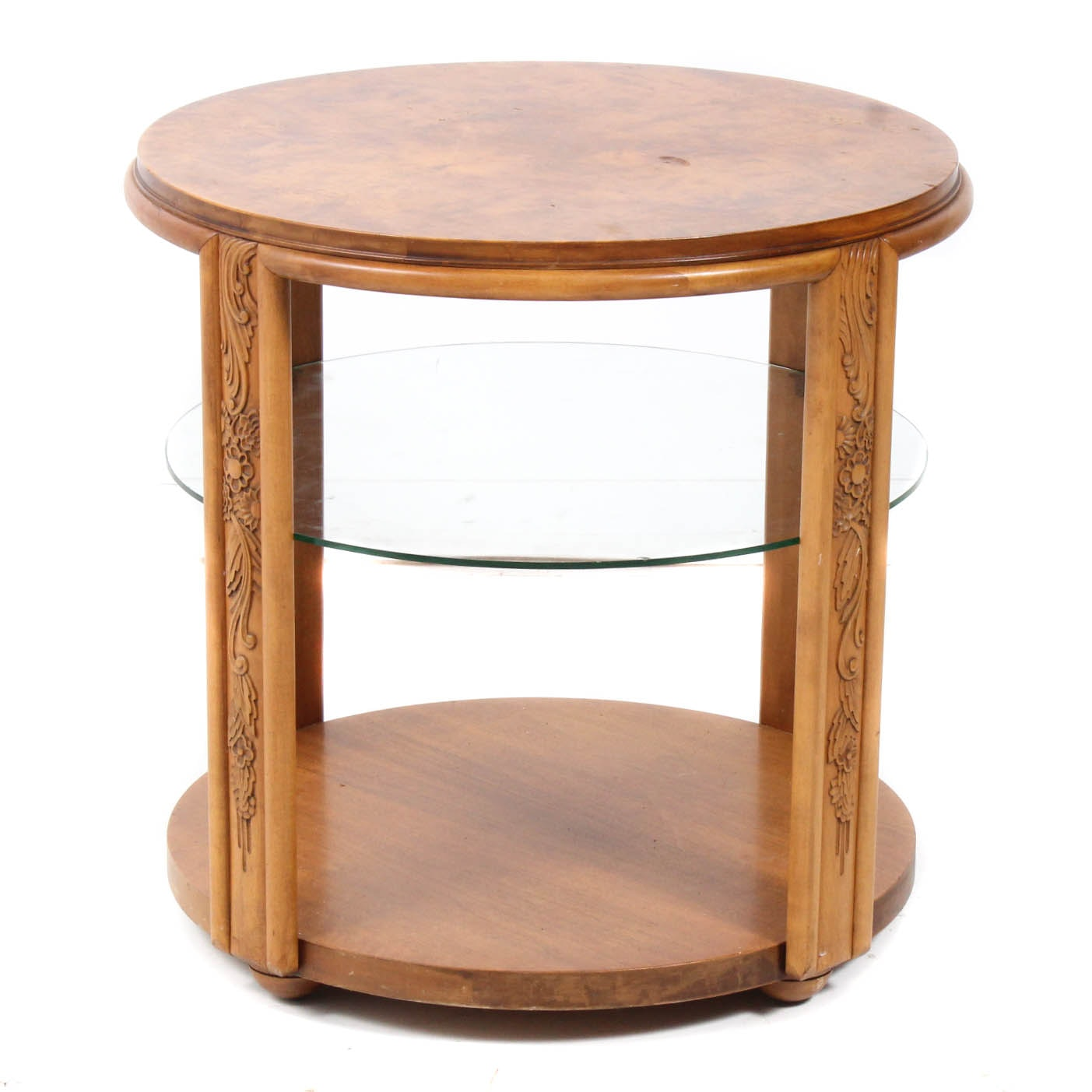 Tiger Maple Side Table by True Grand Rapids