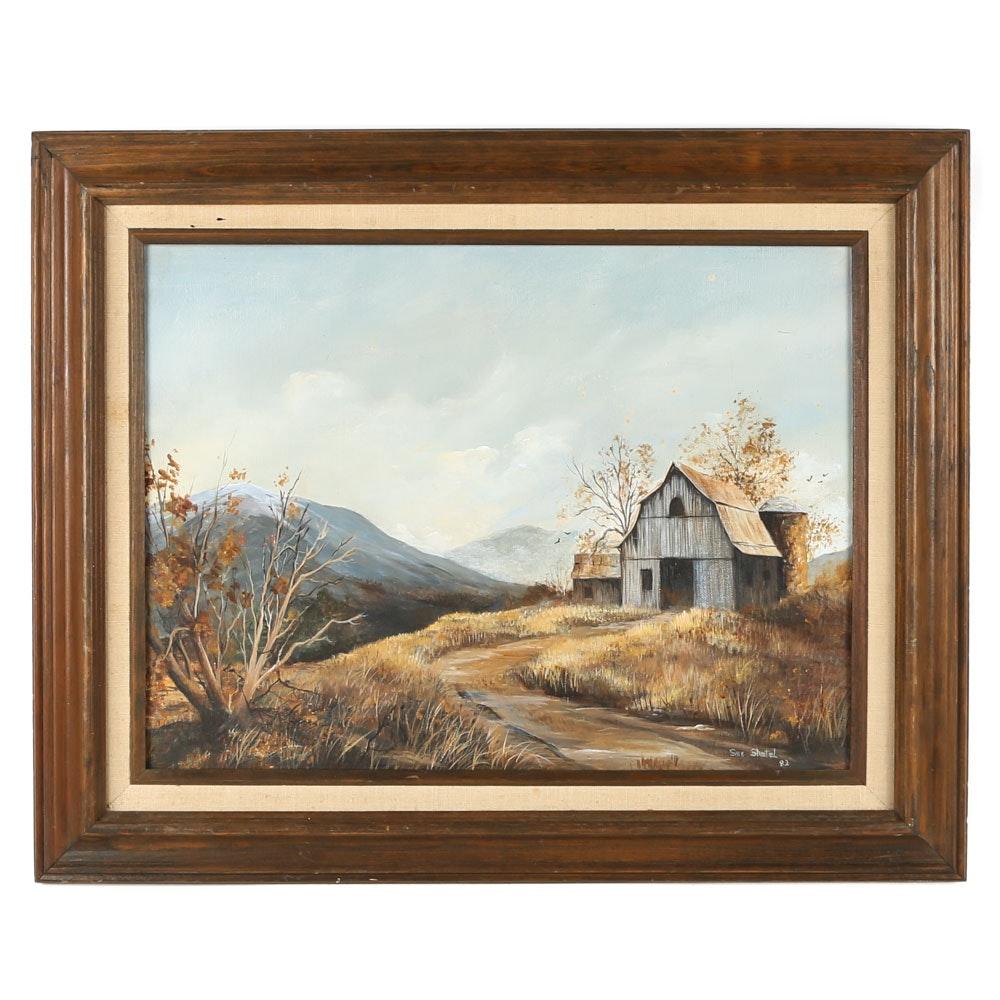 Sue Shatel Original Acrylic Painting on Canvas