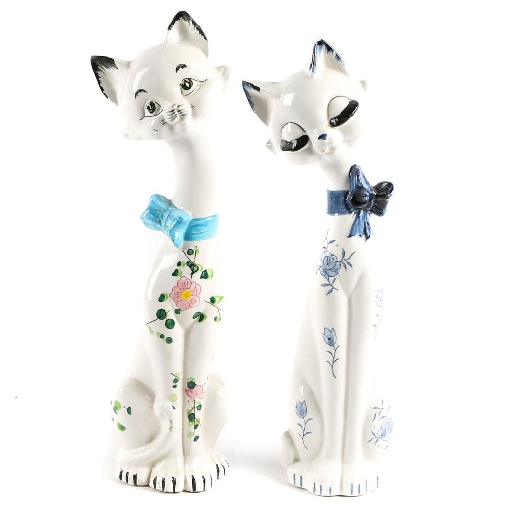 Vintage Japanese Cat Figurines