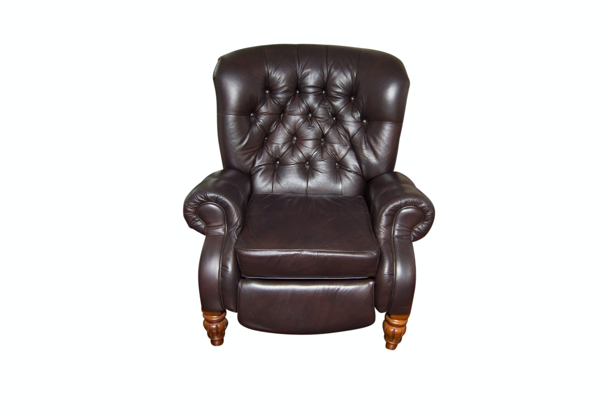 Leather Tufted Recliner