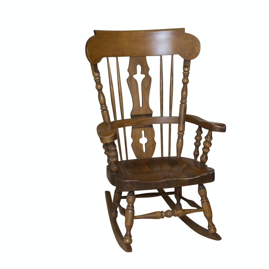 Fabulous Wooden Fiddle Back Rocking Chair Inzonedesignstudio Interior Chair Design Inzonedesignstudiocom