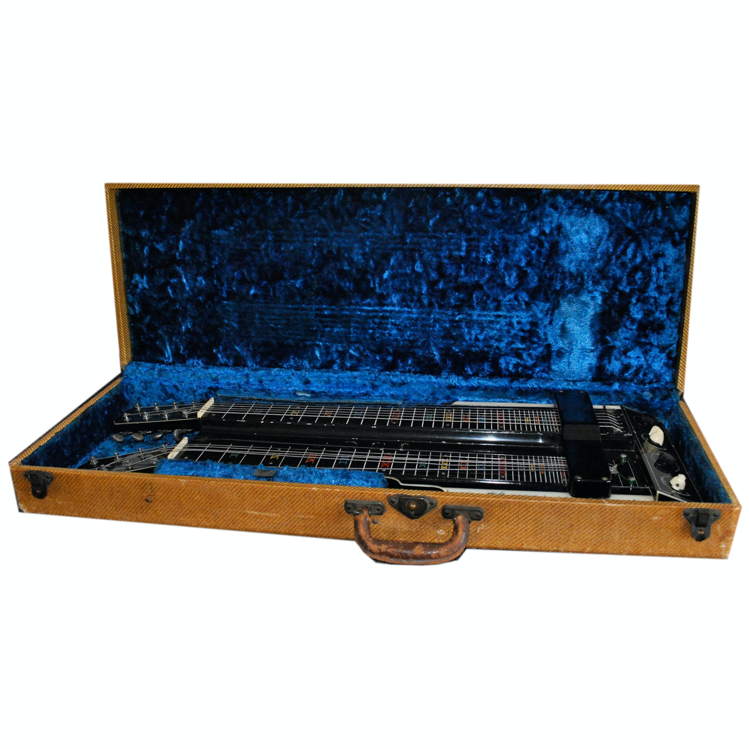 C. 1940s National New Yorker Double Neck Lap Steel Guitar