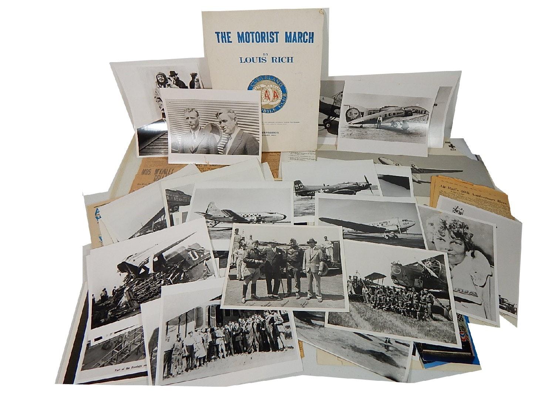 Reproduction Aeronautical Photographs and Ephemera with Earhart, Military, More
