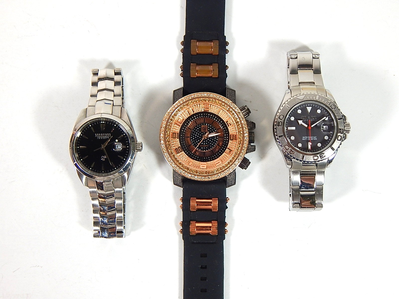 Three Wristwatches with Berenger, Charles Raymond, SO & Co New York