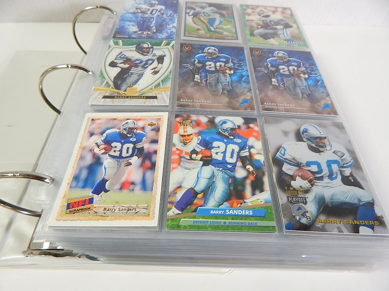 Large Album of Football Cards - Around 700 Card Count