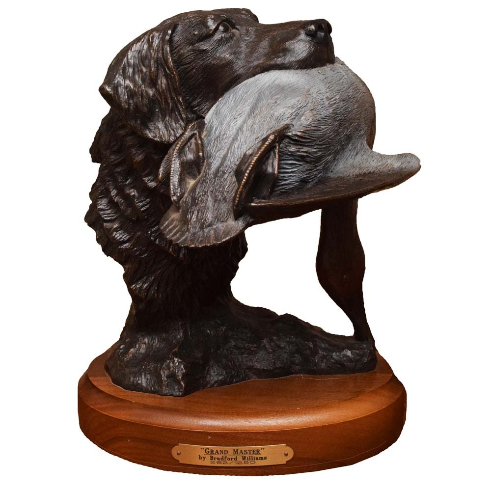 """Bronze Limited Edition """"Grand Master"""" Sculpture by Bradford Williams"""