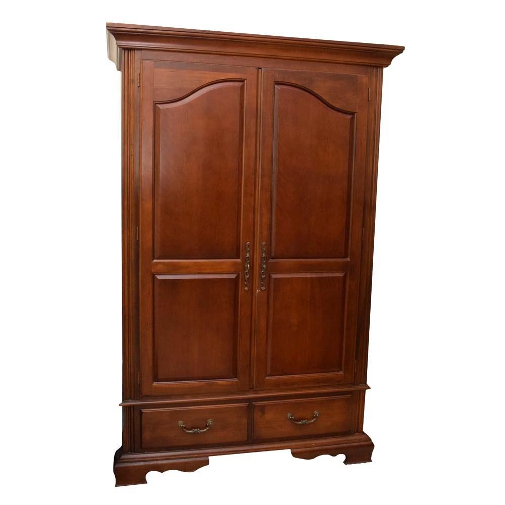 Monumental Bassett Furniture Cherry Wardrobe/Media Cabinet