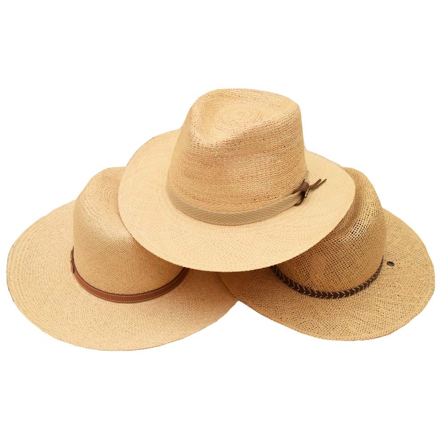 Straw Panama Hats Featuring Stetson and Orvis   EBTH f3518a4d09b