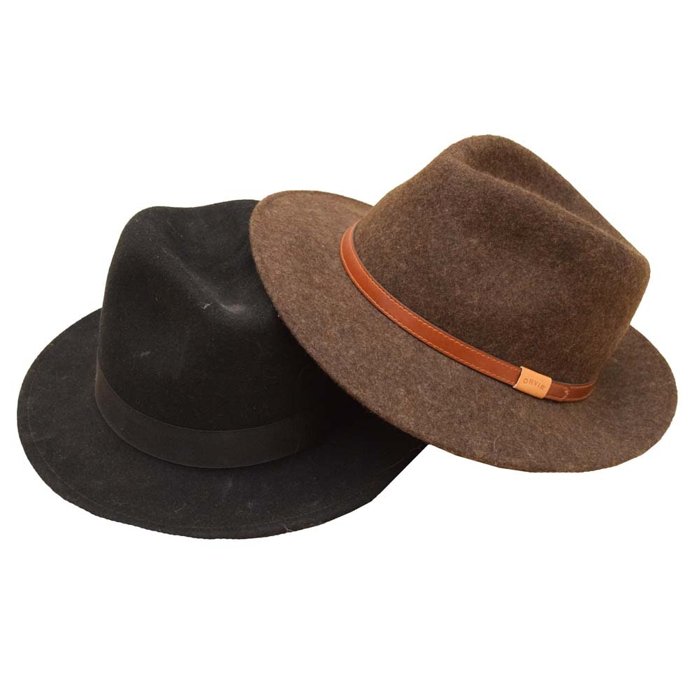 Men's Orvis Wool Felted Fedoras