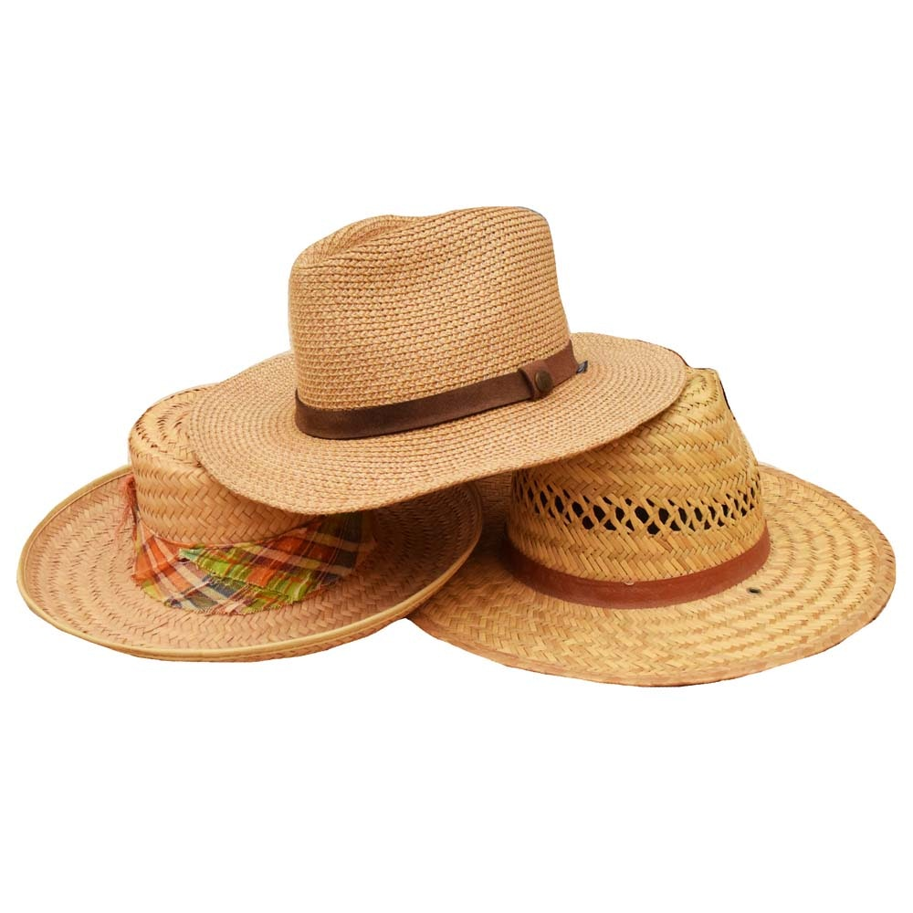 Woven Straw Hats Featuring Wallaroo