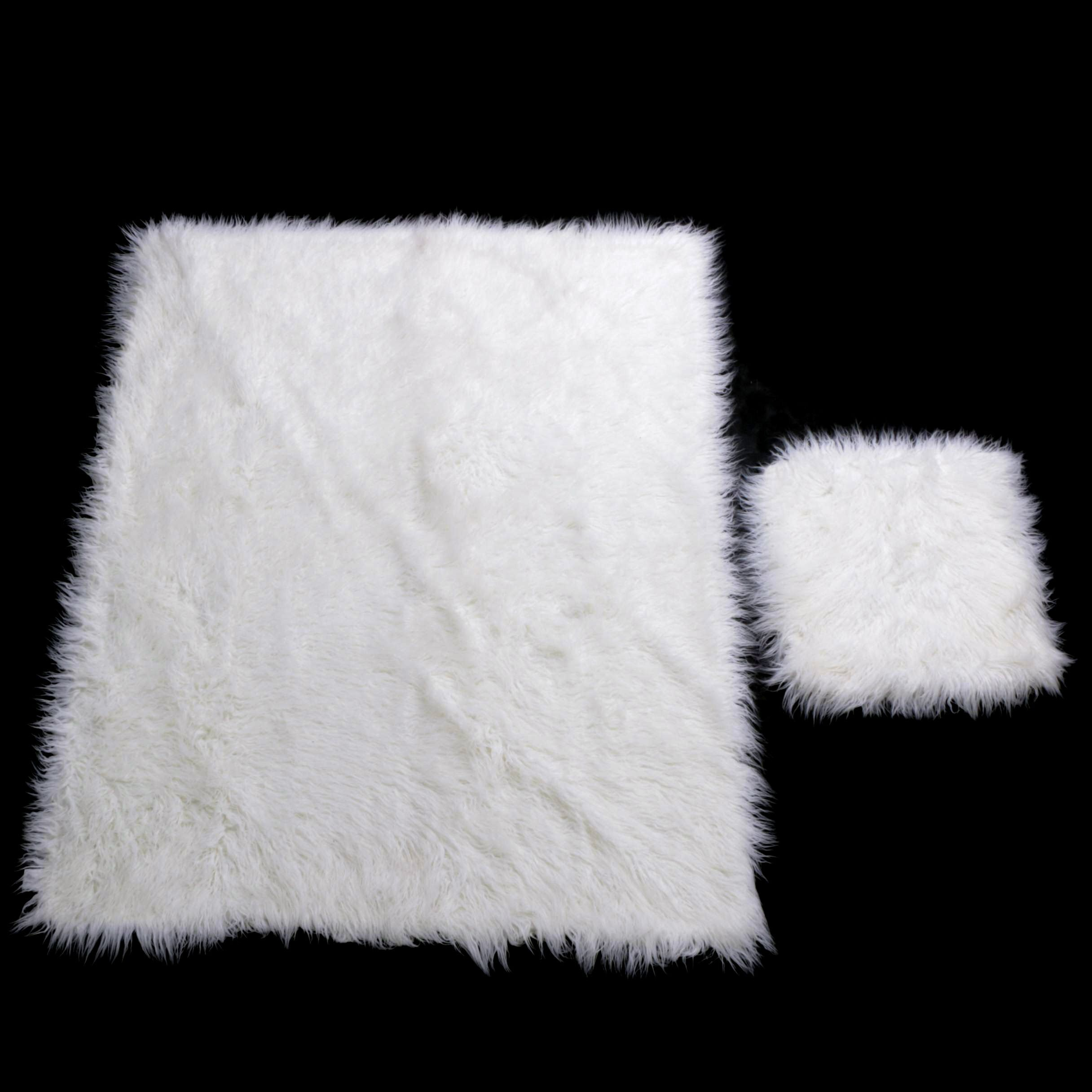 Martha Stewart Faux Fur Blanket and Pillow Sham