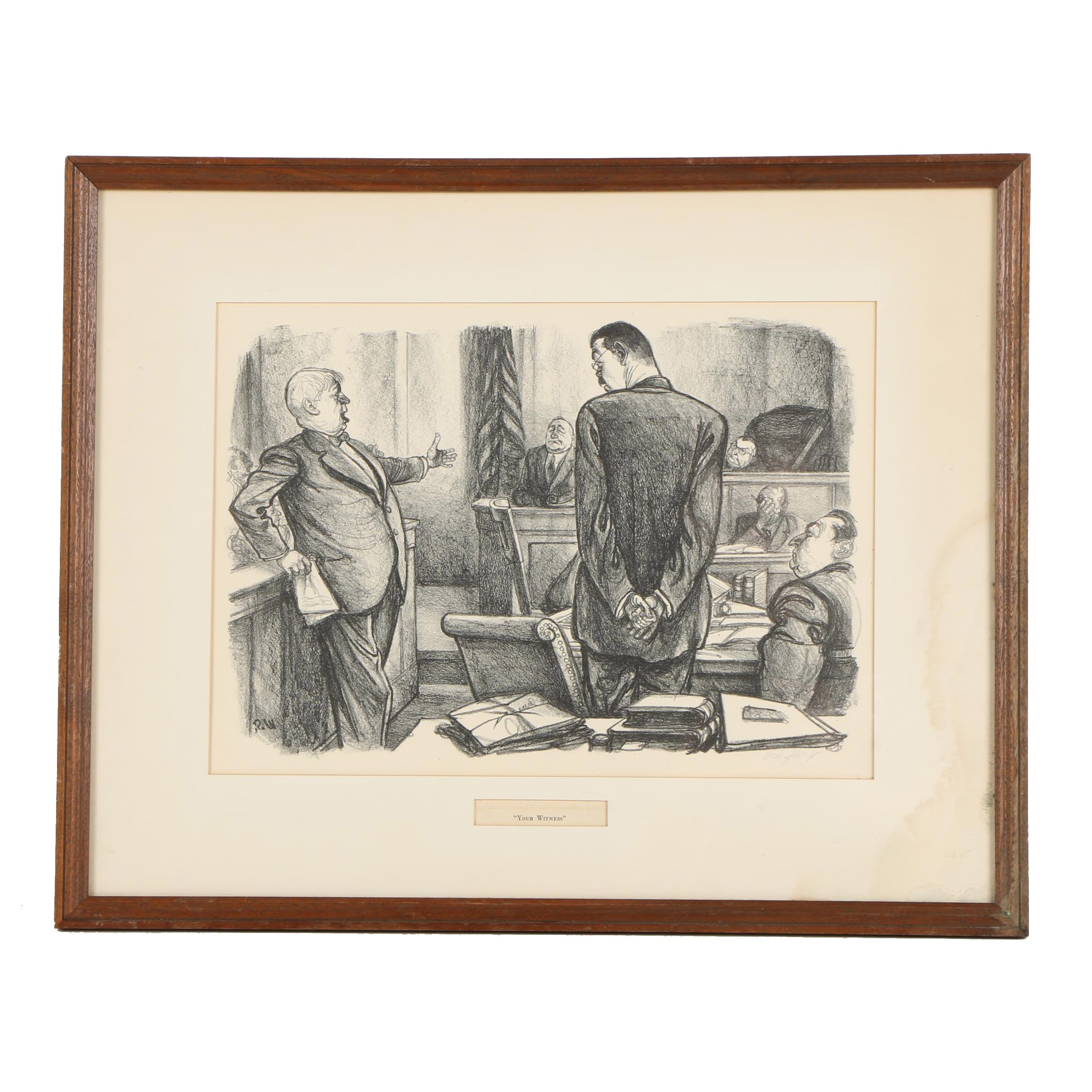 """William Sharp Lithograph """"Your Witness"""""""
