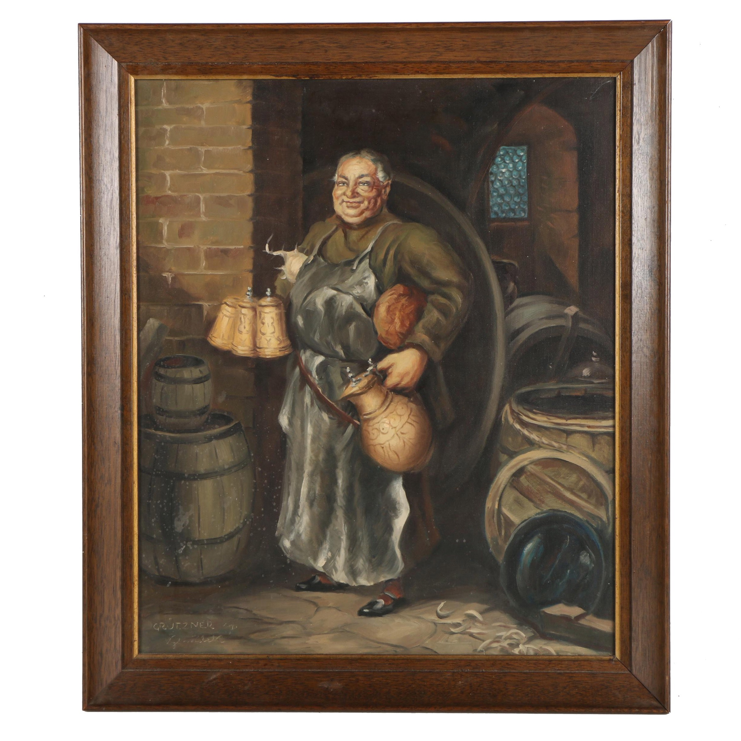 "Vyhnaleky Oil Painting ""The Jolly Brewmaster"""