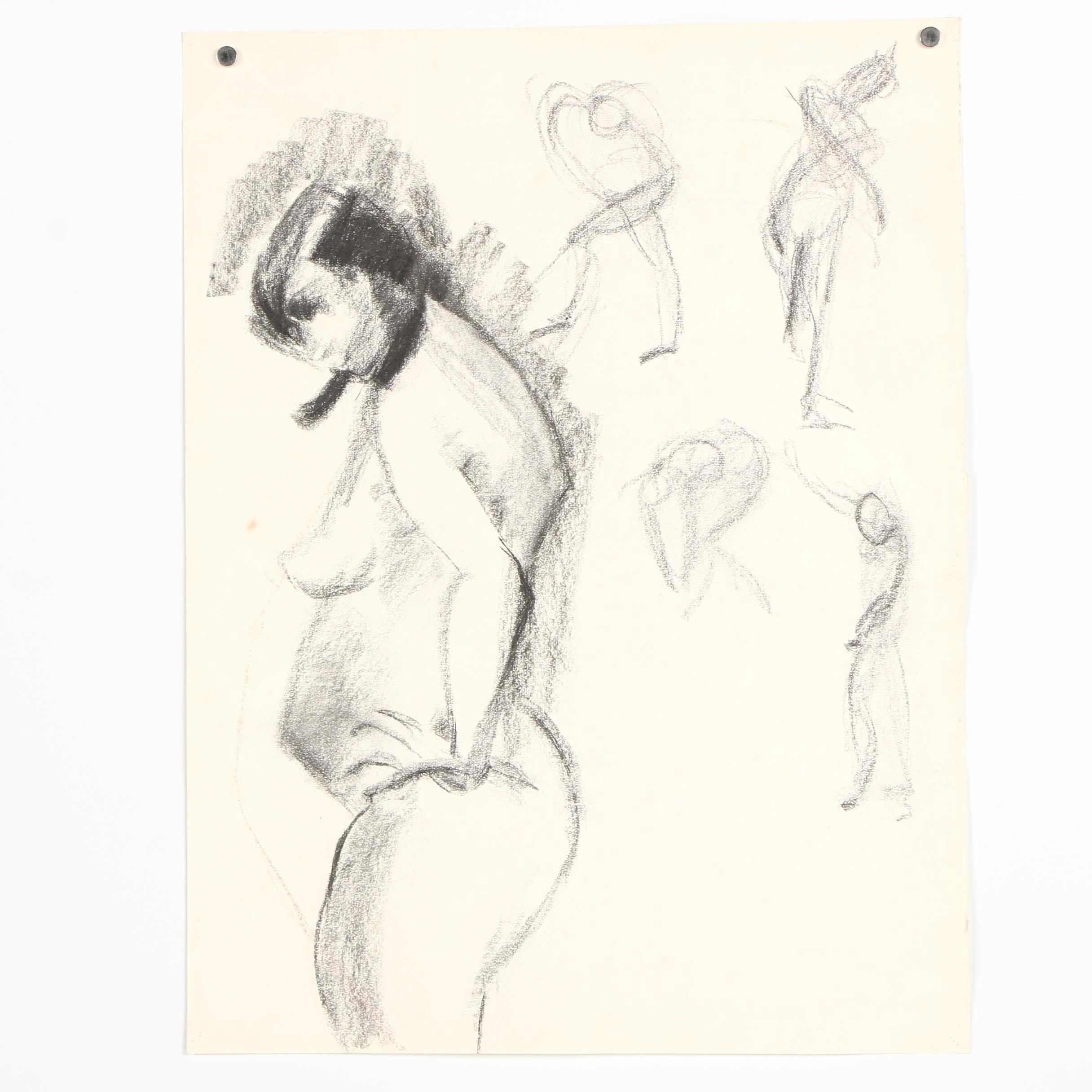 Beth Hertz Charcoal Figure Studies
