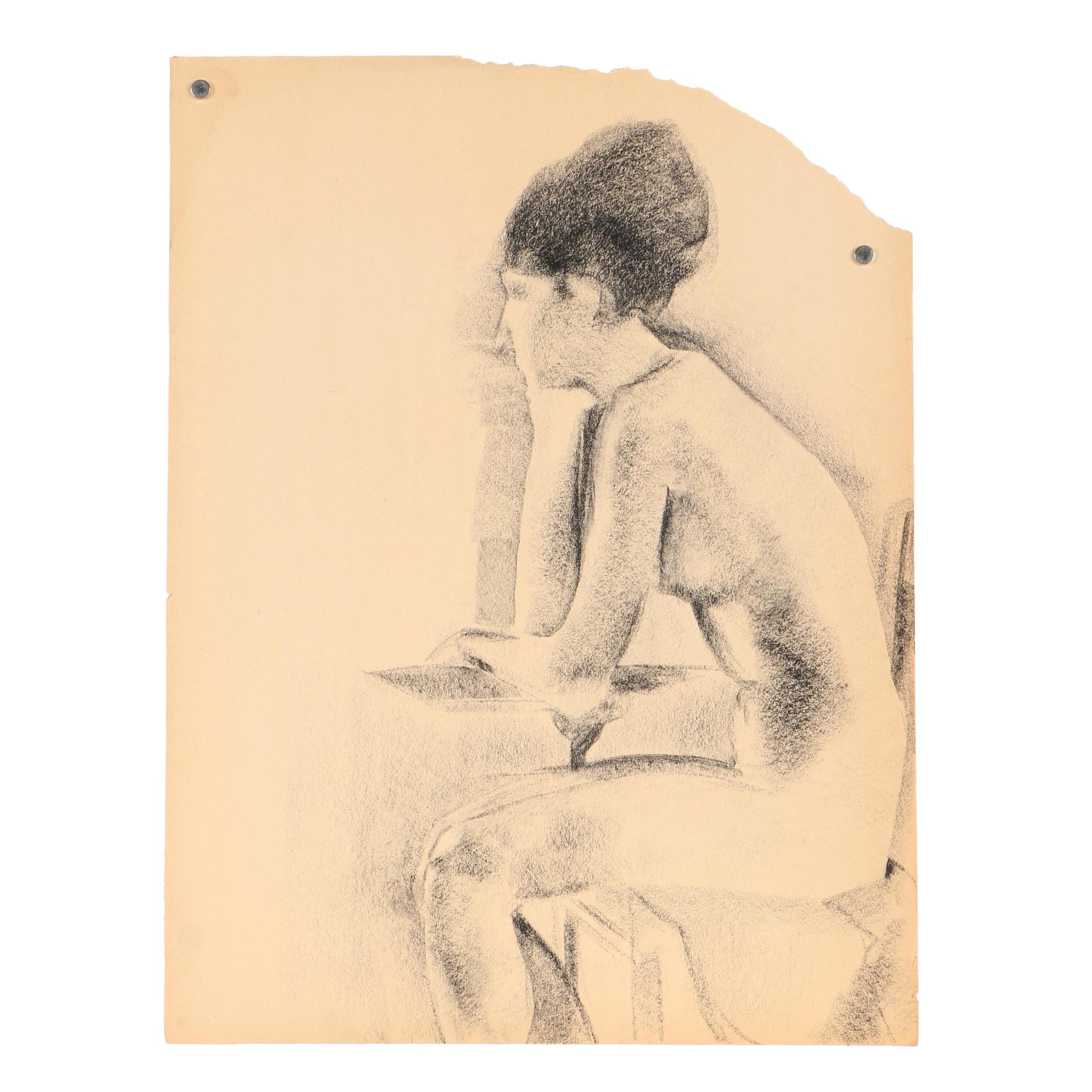 Beth Hertz Charcoal Drawing
