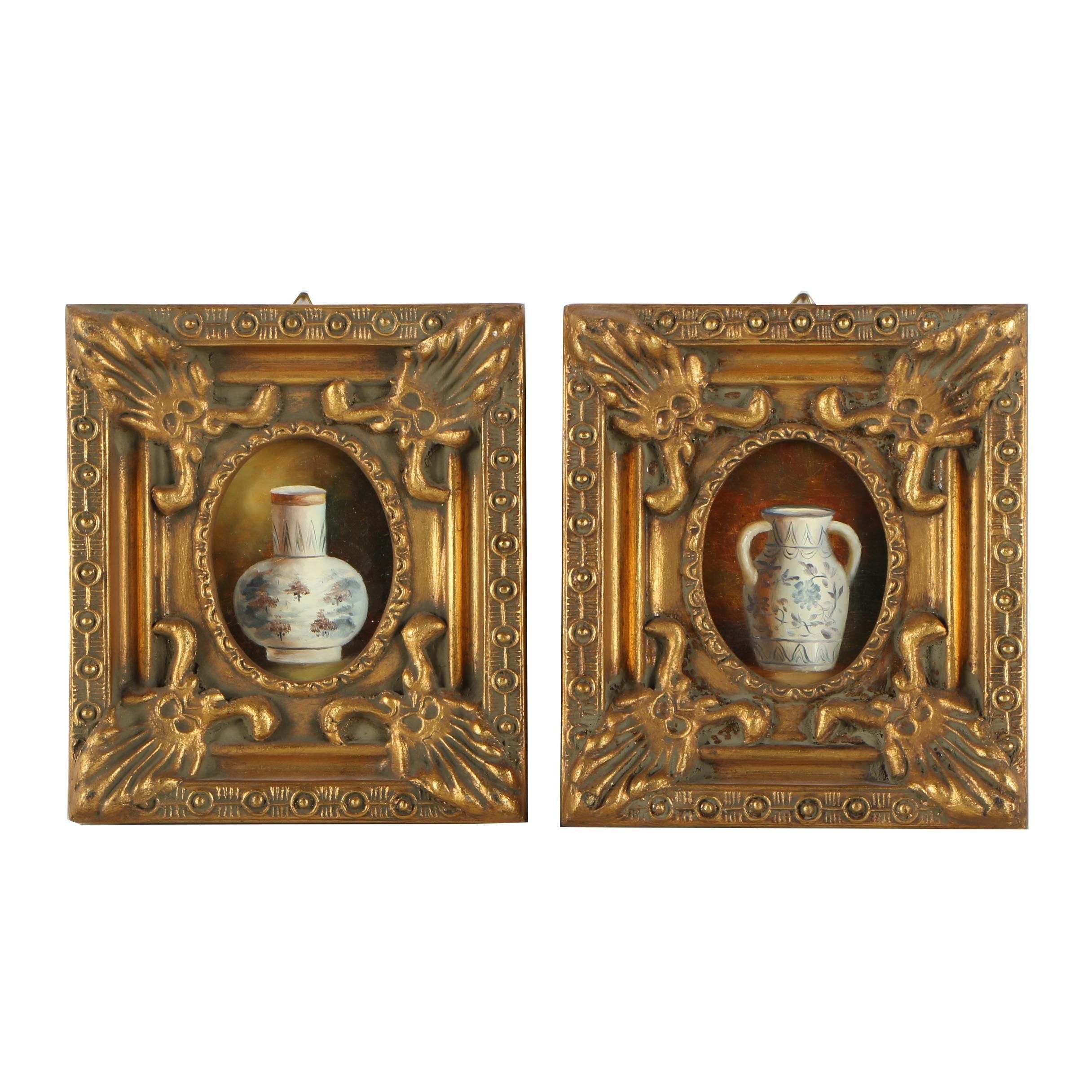 Miniature Oil Paintings of Ceramic Vessels