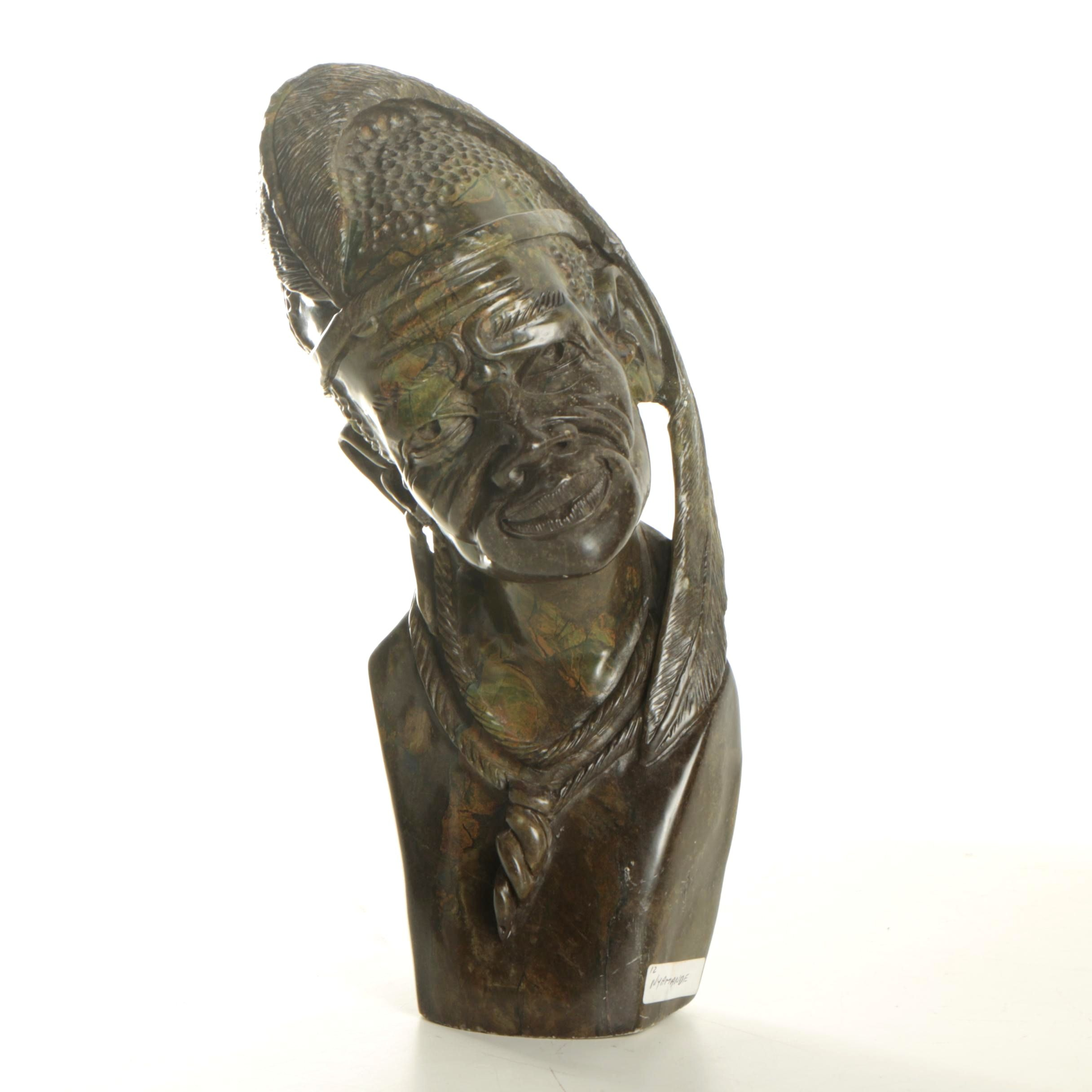 W. Shama Serpentine Carving