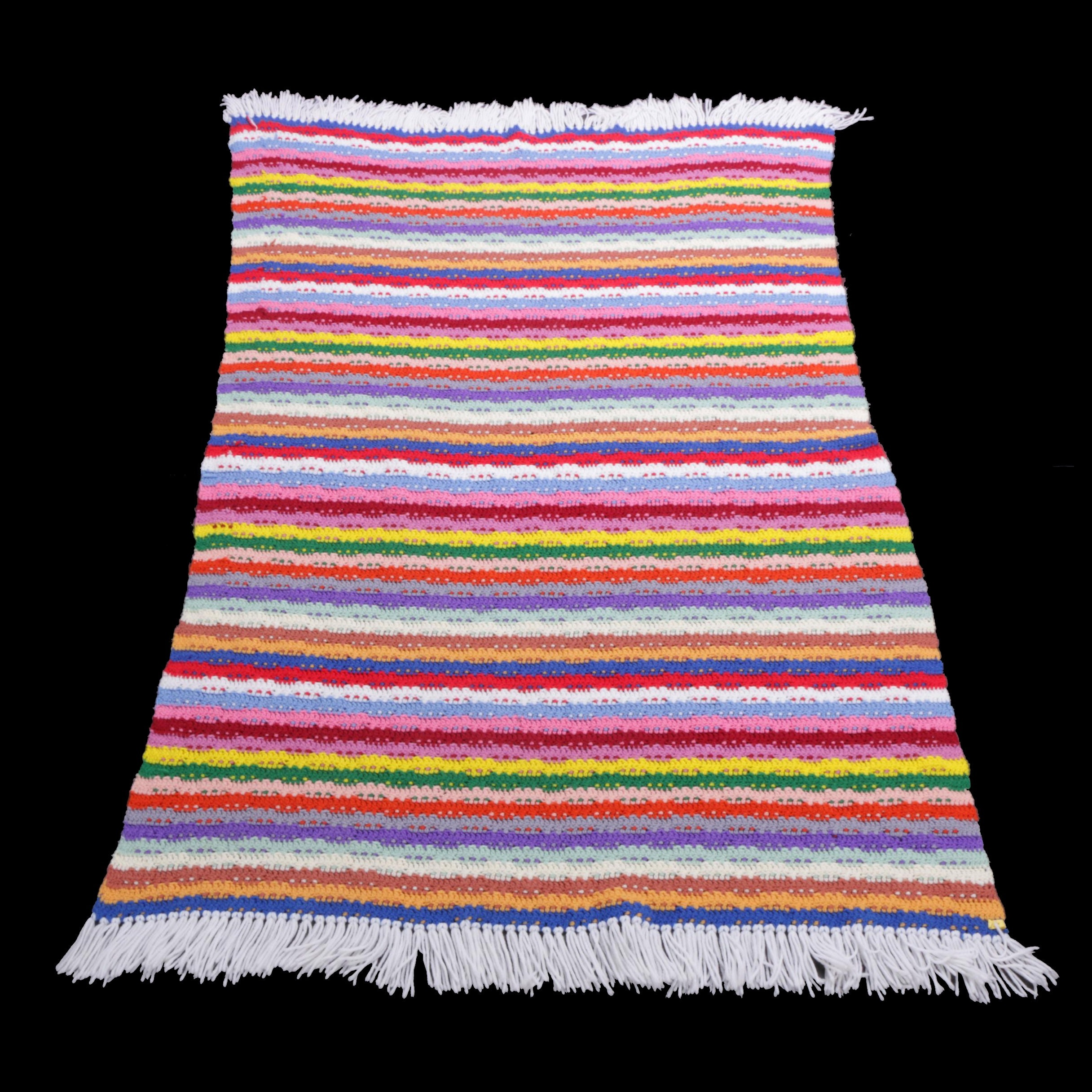 Colorful Knitted Afghan