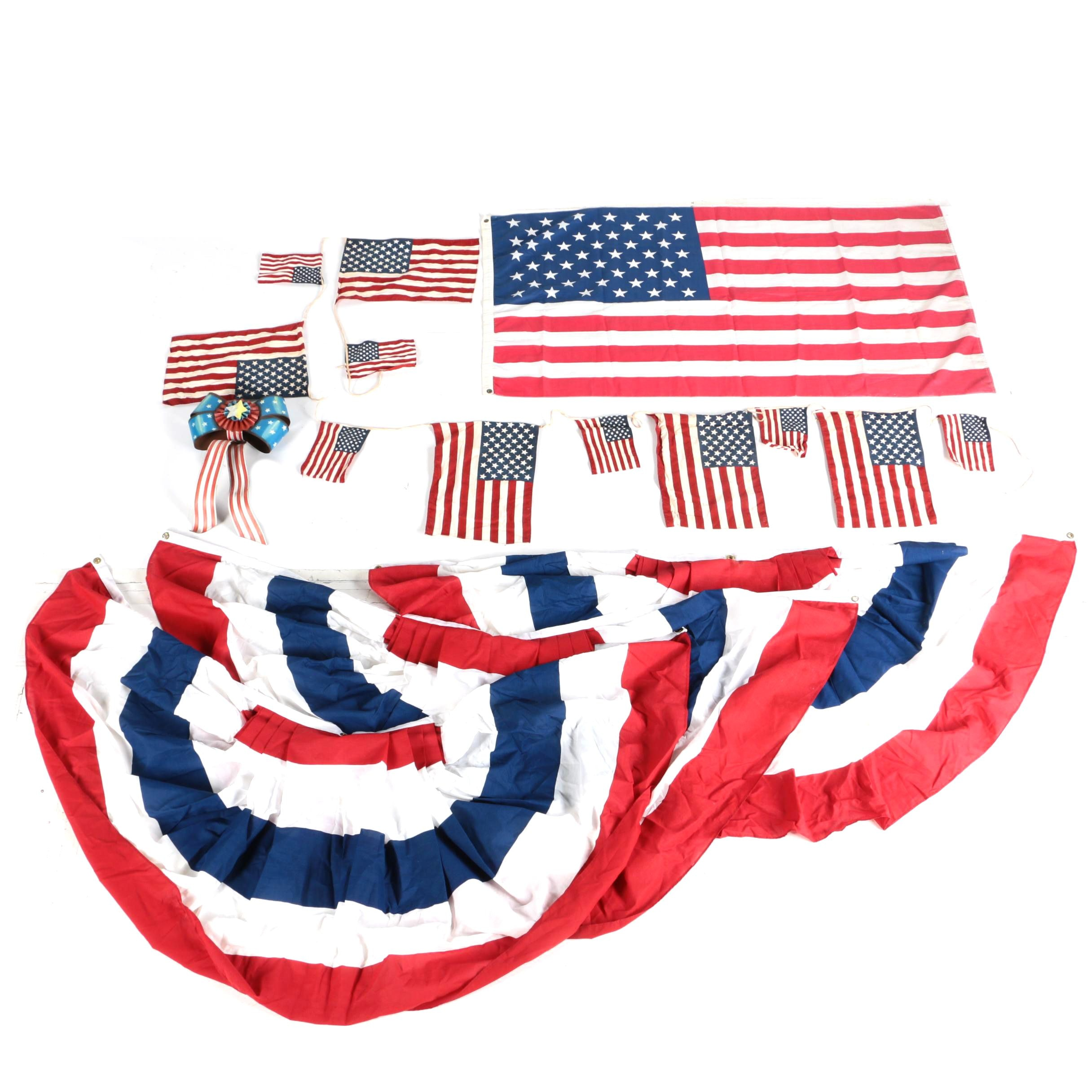 Assorted Patriotic Banners and American Flags