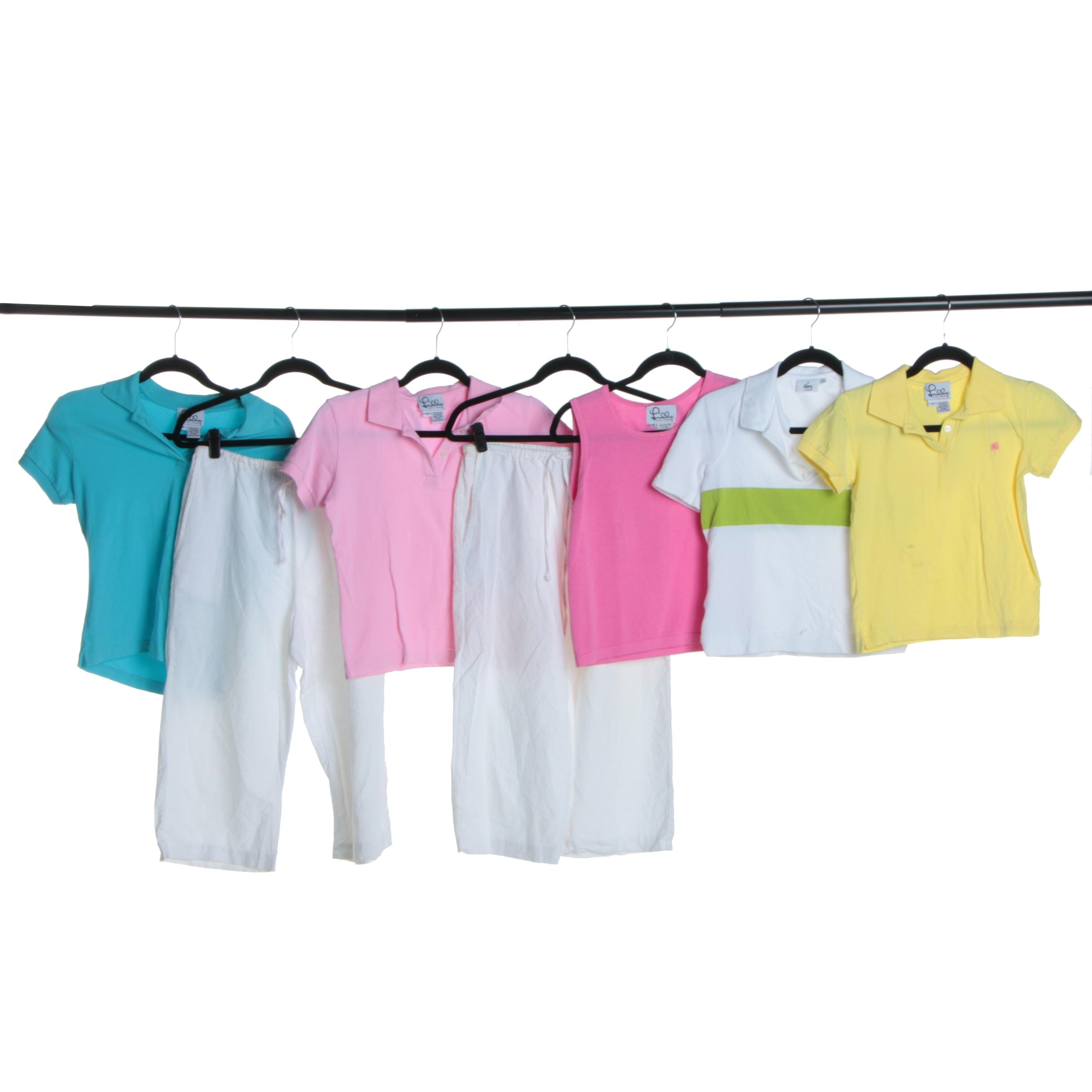 Women's Polo Shirts and Pants Including Lilly Pulitzer and Lacoste