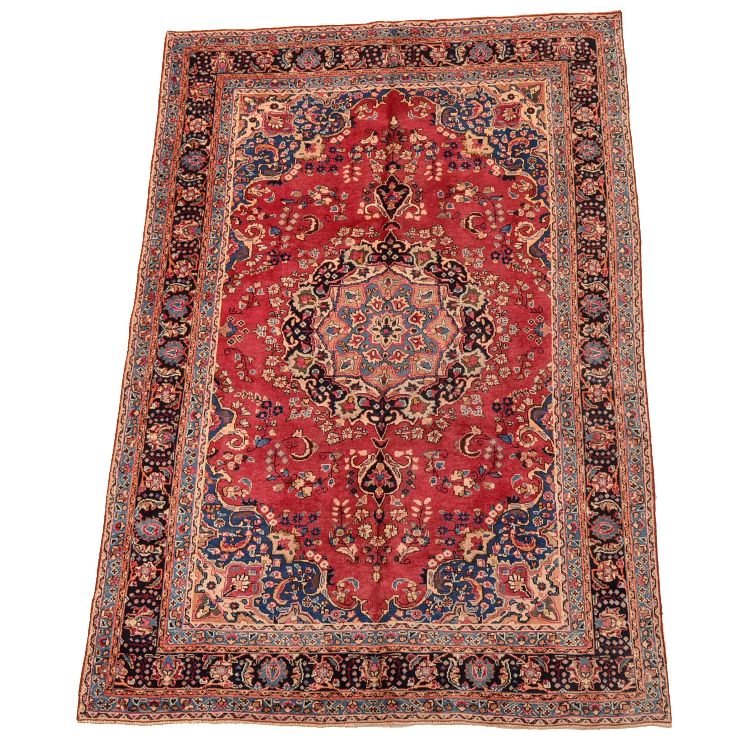 Hand-Knotted Persian Qum Style Area Rug
