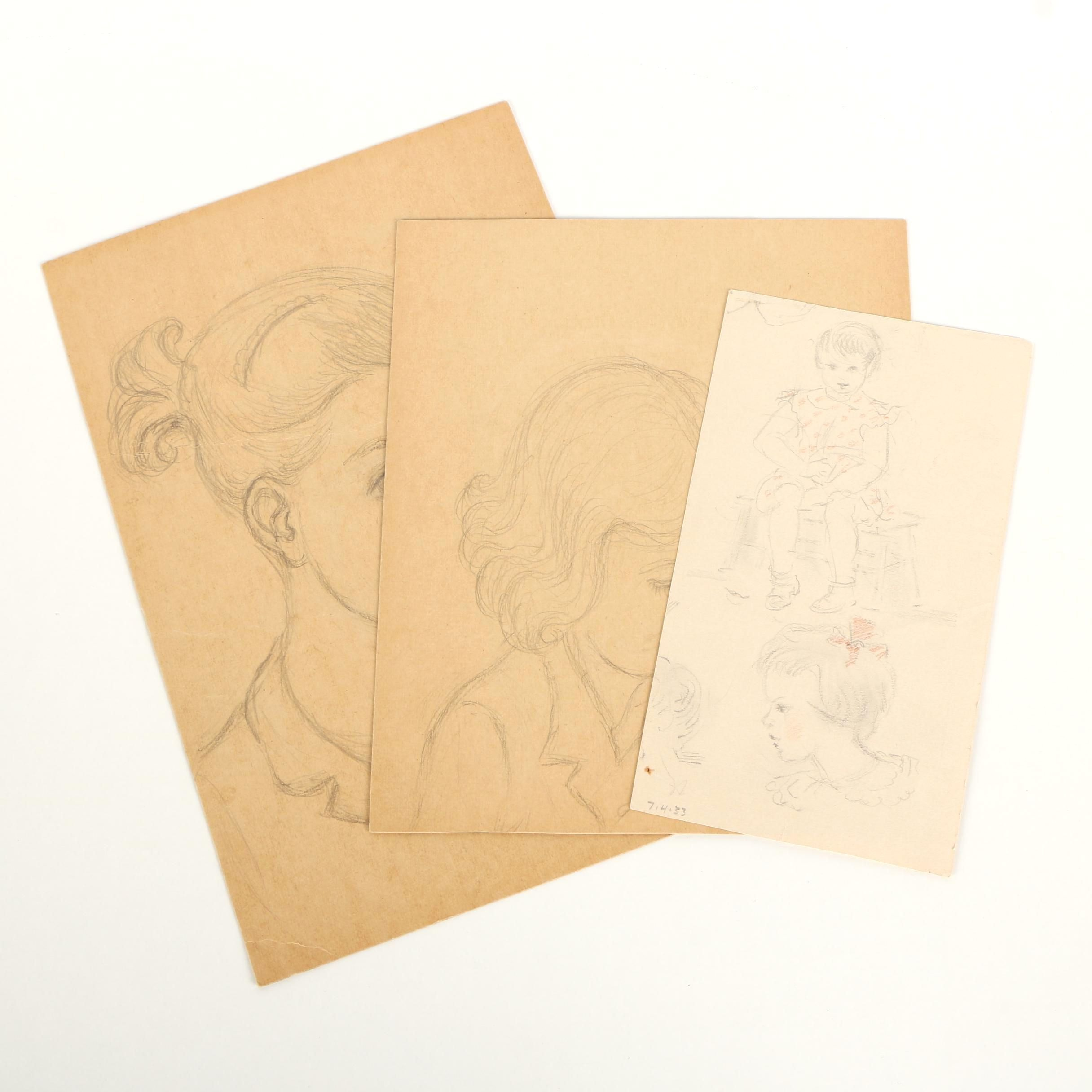 Stanley Bielecky Graphite Drawings