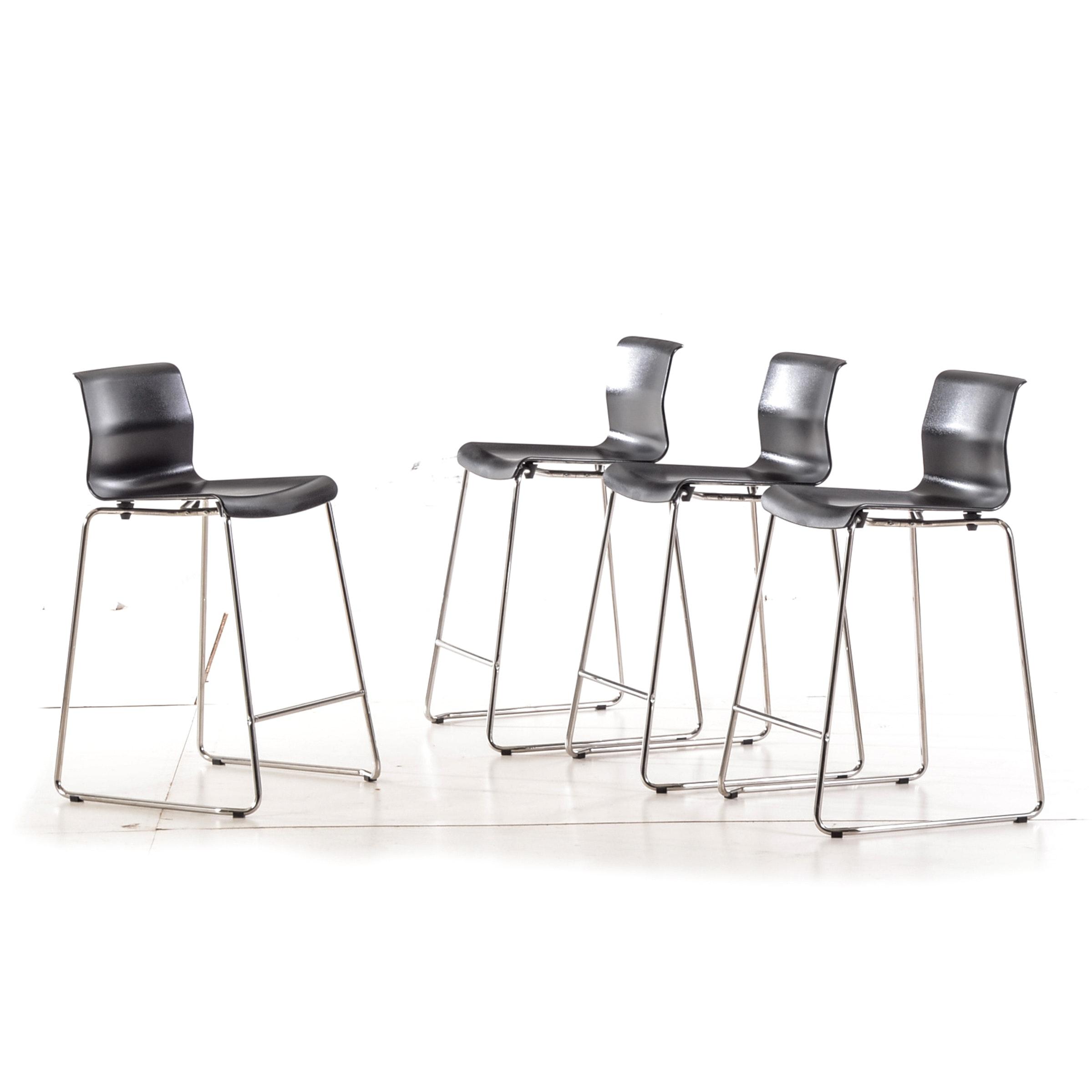 "Four Ikea ""Glenn"" Bar Stools"