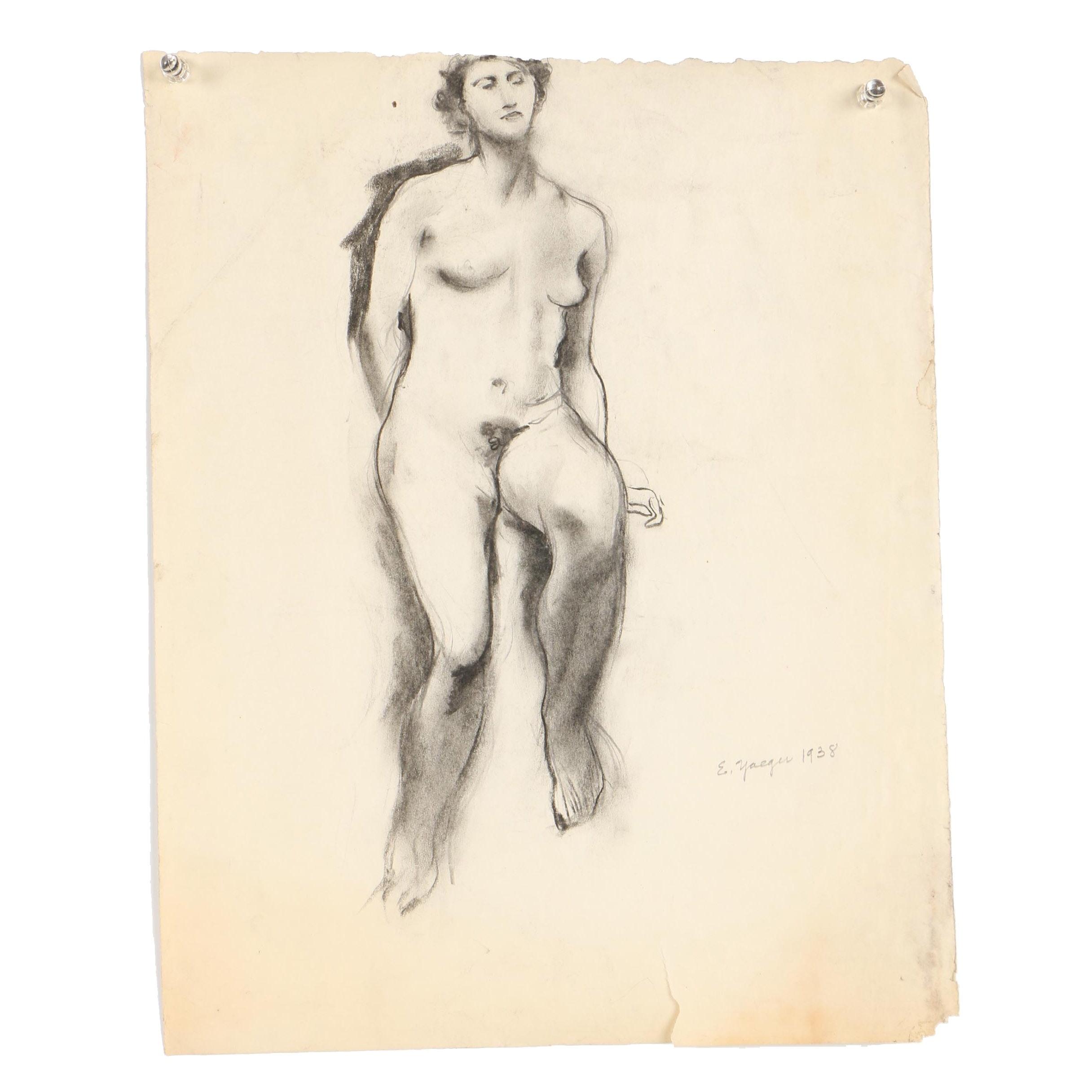 Edgar Yaeger Charcoal Drawing