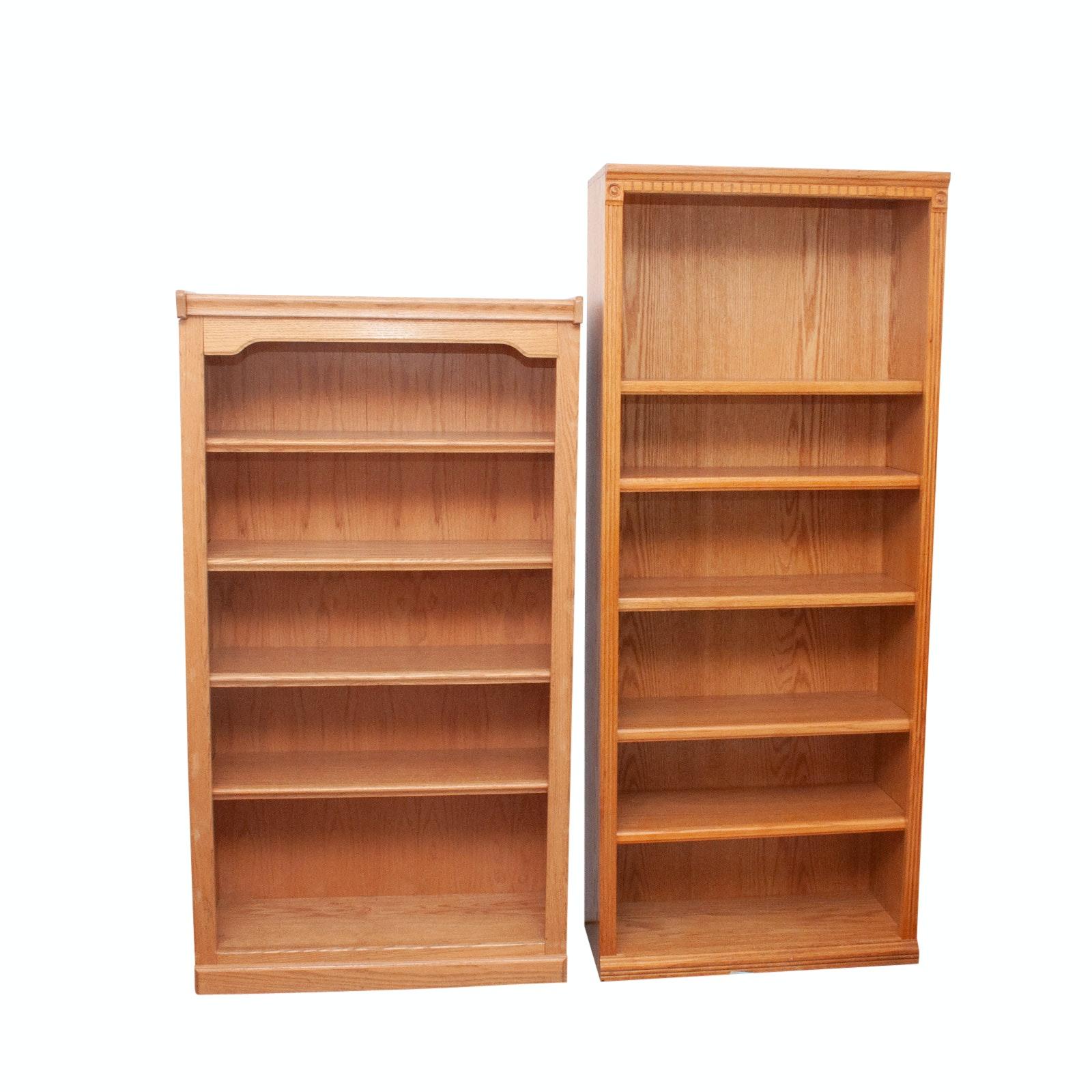 Wood Oak Style Bookcases