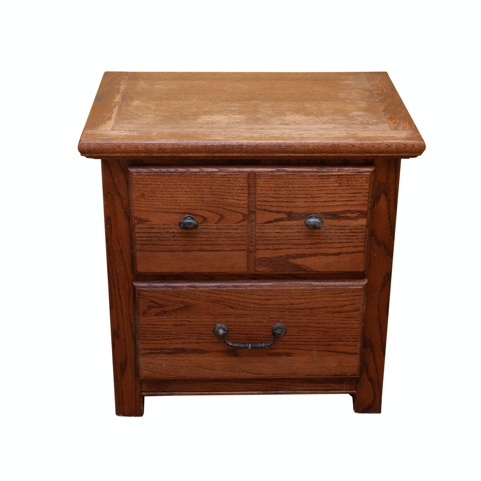 Wooden Oak Style Night Stand