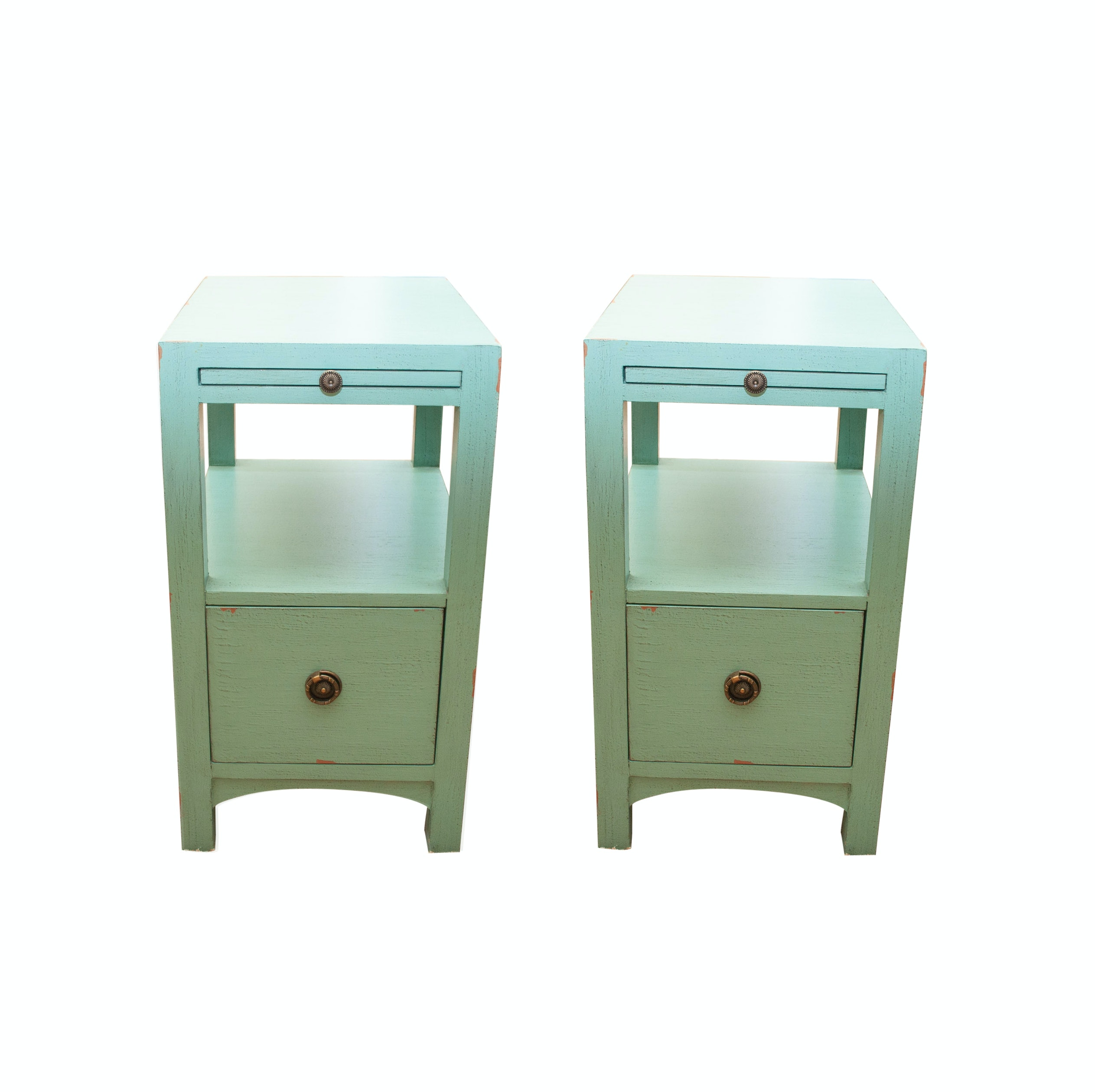 Pair of Turquoise Side Tables by Coast to Coast